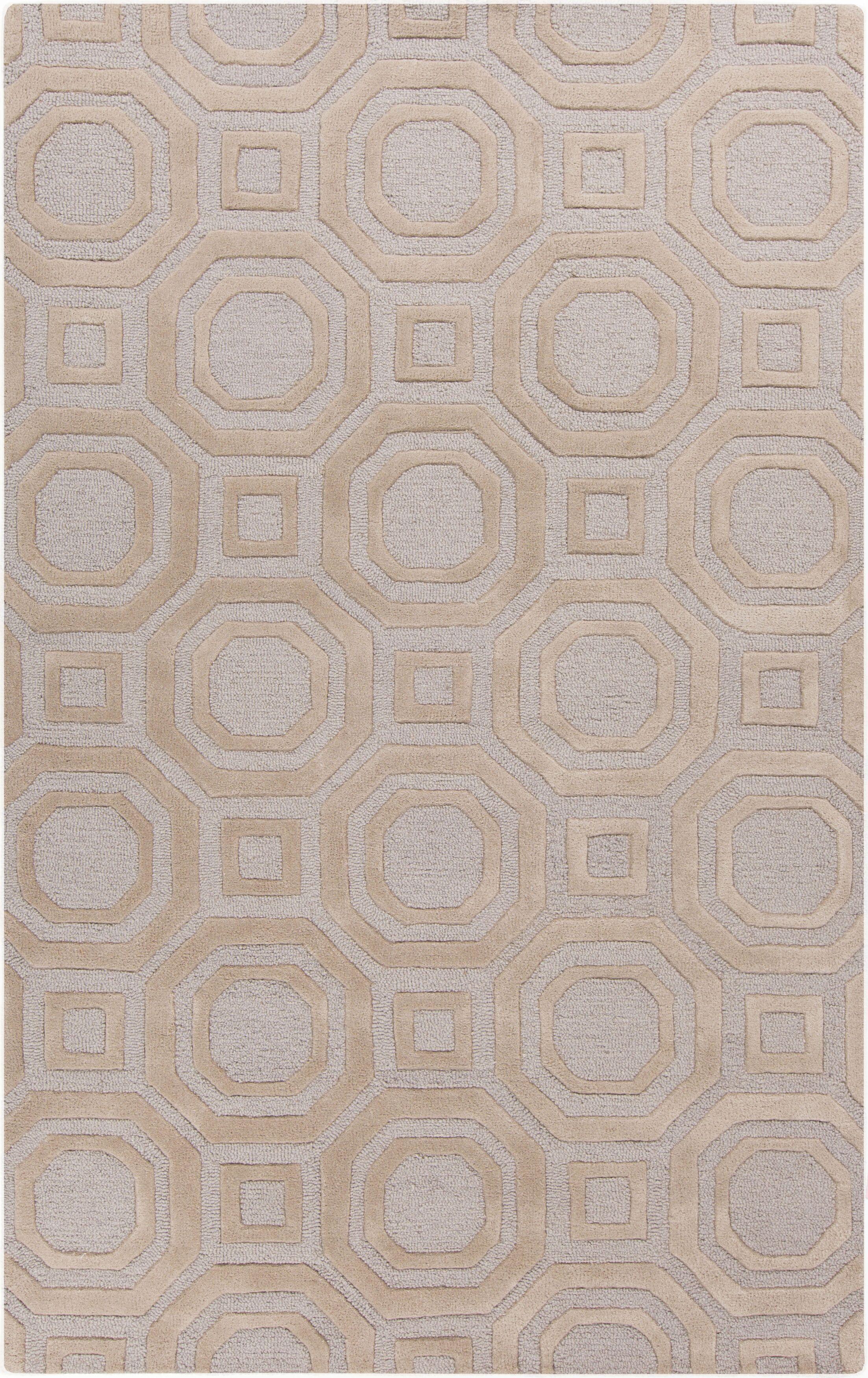 Sandi Hand-Tufted Beige Area Rug Rug Size: Rectangle 5' x 8'