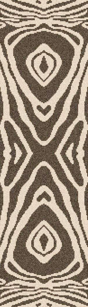 Aubriana Hand-Woven Taupe Area Rug Rug Size: Runner 2'6