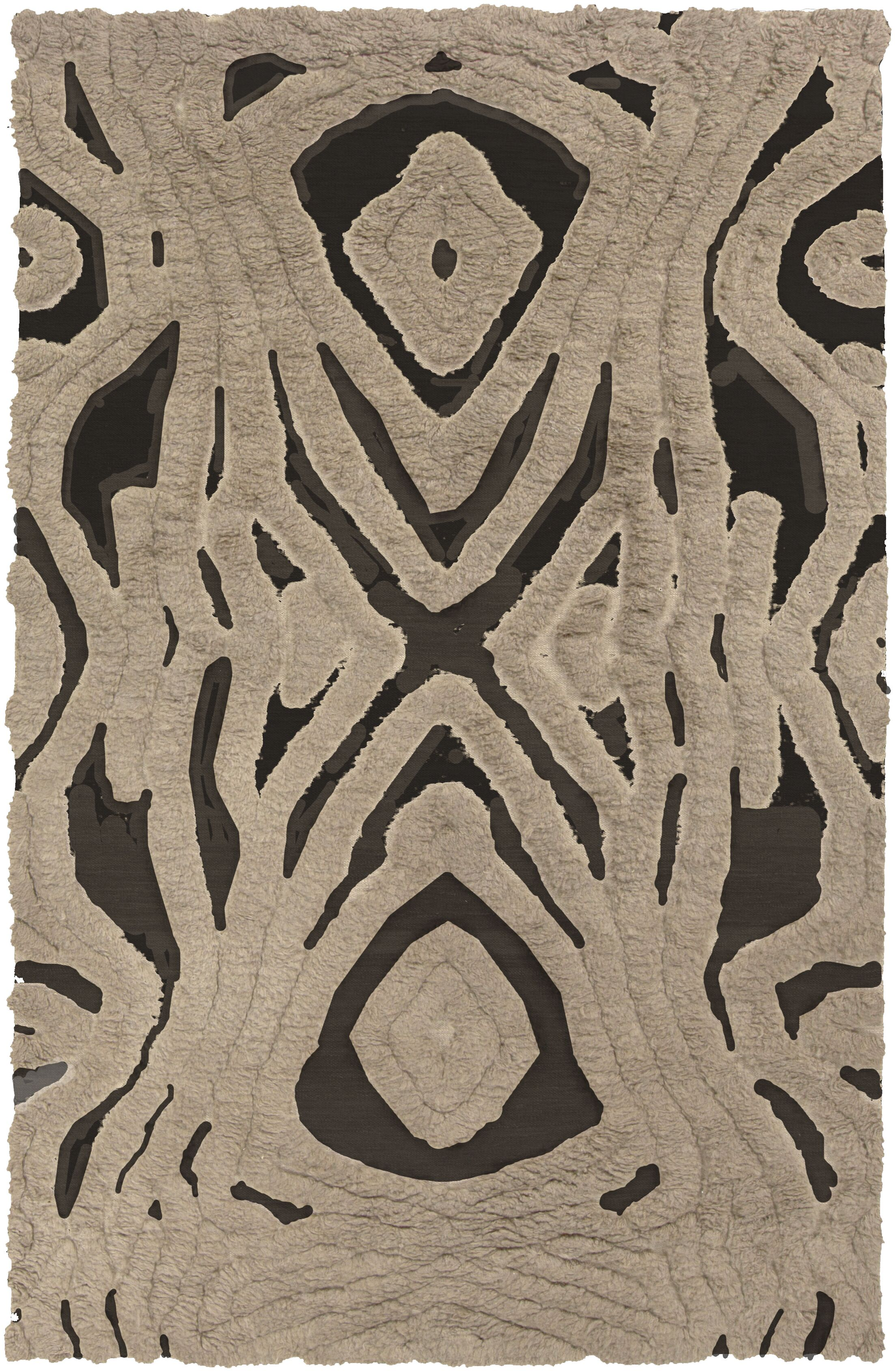 Aubriana Hand-Woven Taupe Area Rug Rug Size: Rectangle 3'6