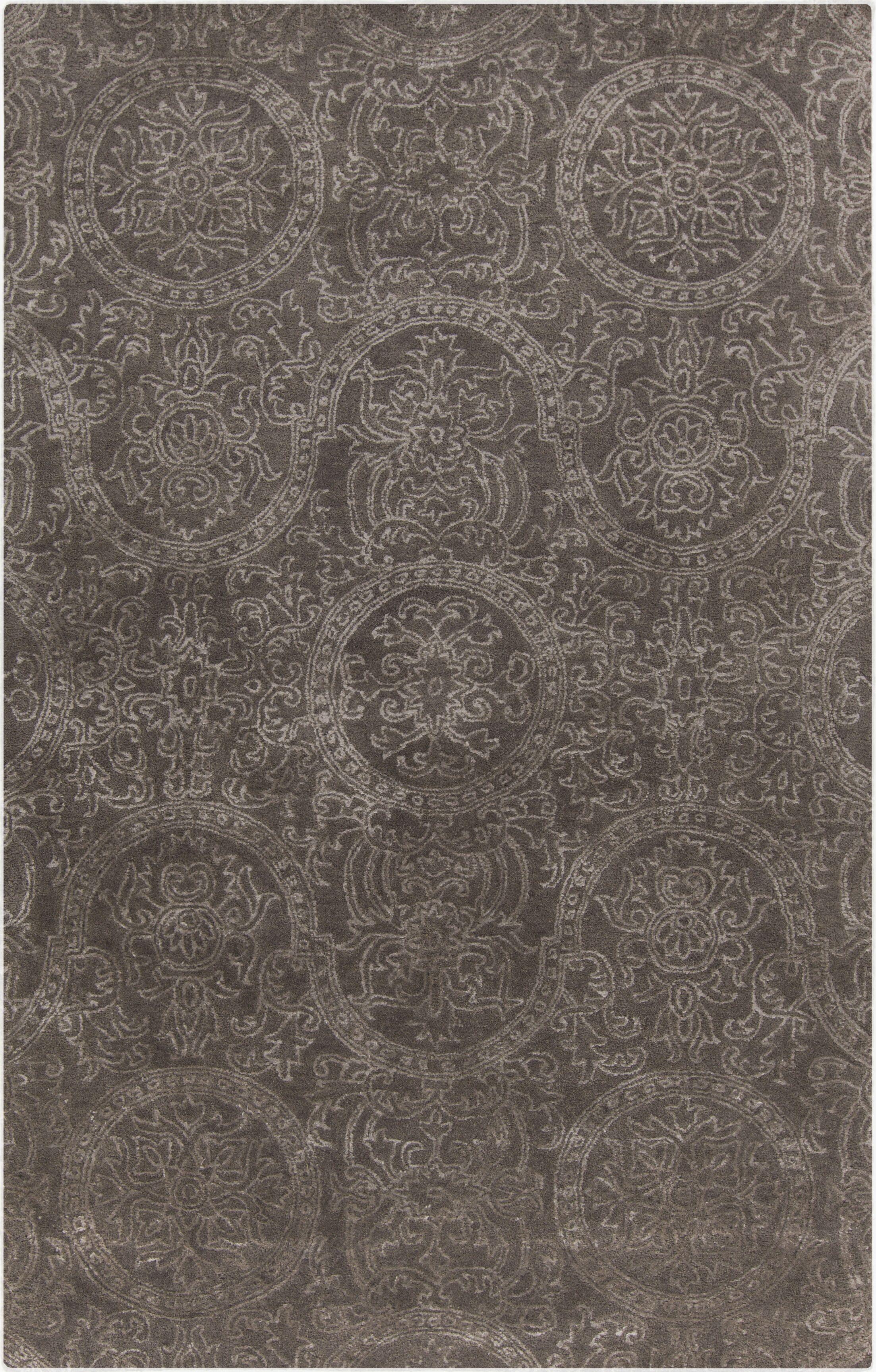 Alivia Light Gray Oriental Area Rug Rug Size: Rectangle 5' x 8'