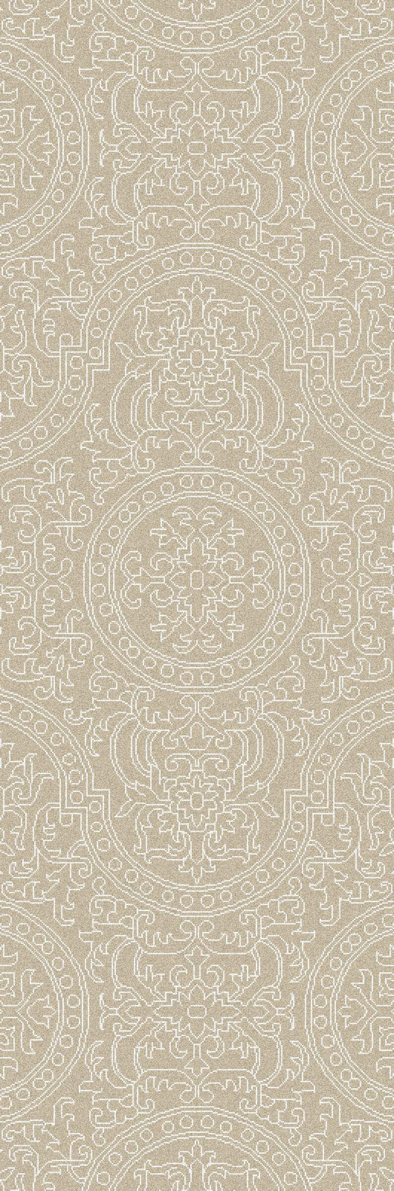 Alivia Beige Abstract Area Rug Rug Size: Runner 2'6