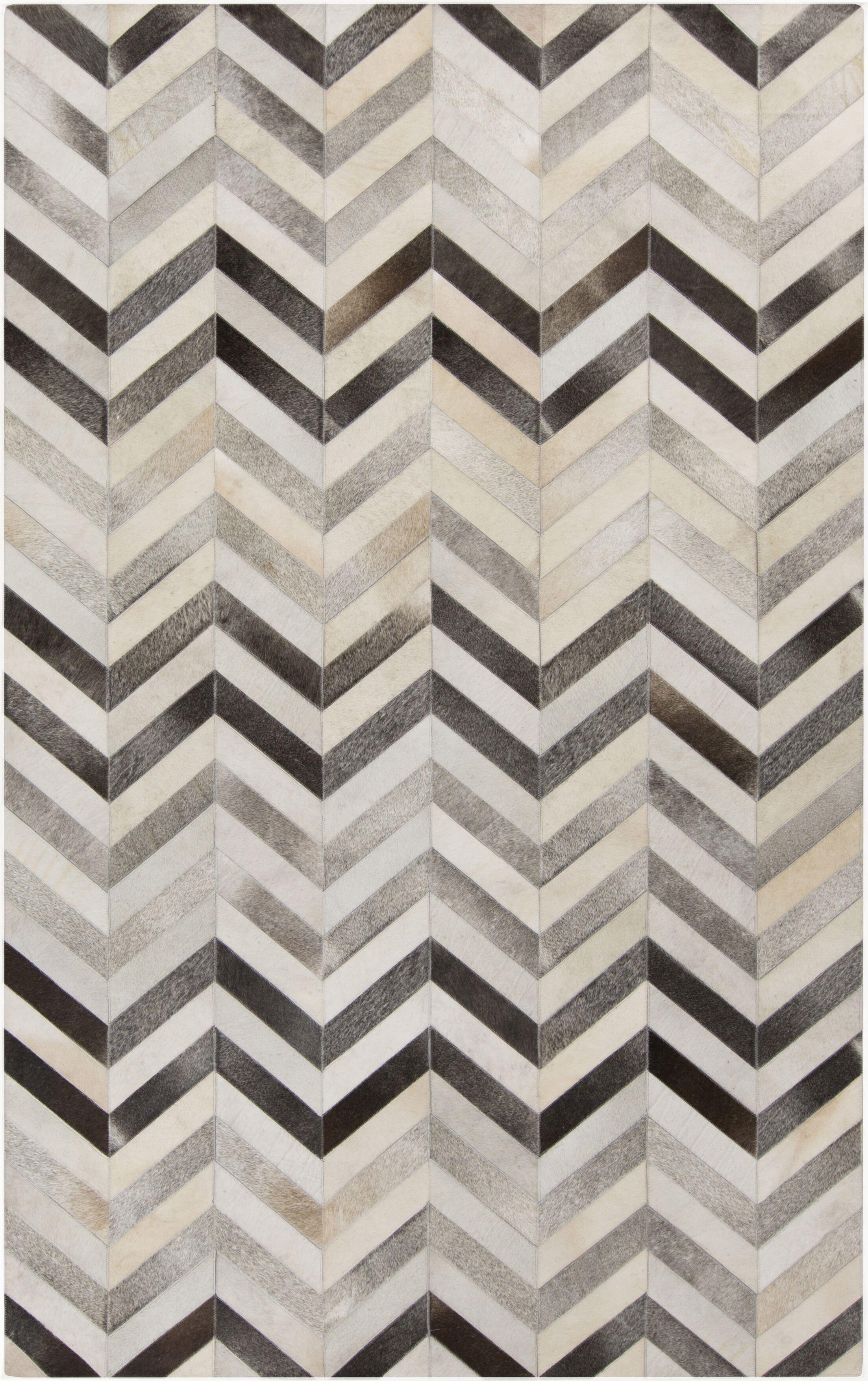 Ortega Light Gray/Charcoal Area Rug Rug Size: Rectangle 2' x 3'