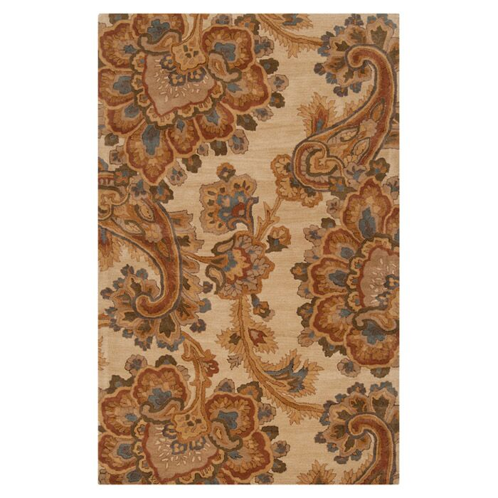 Busch Ivory & Brown Area Rug Rug Size: Rectangle 9' x 13'