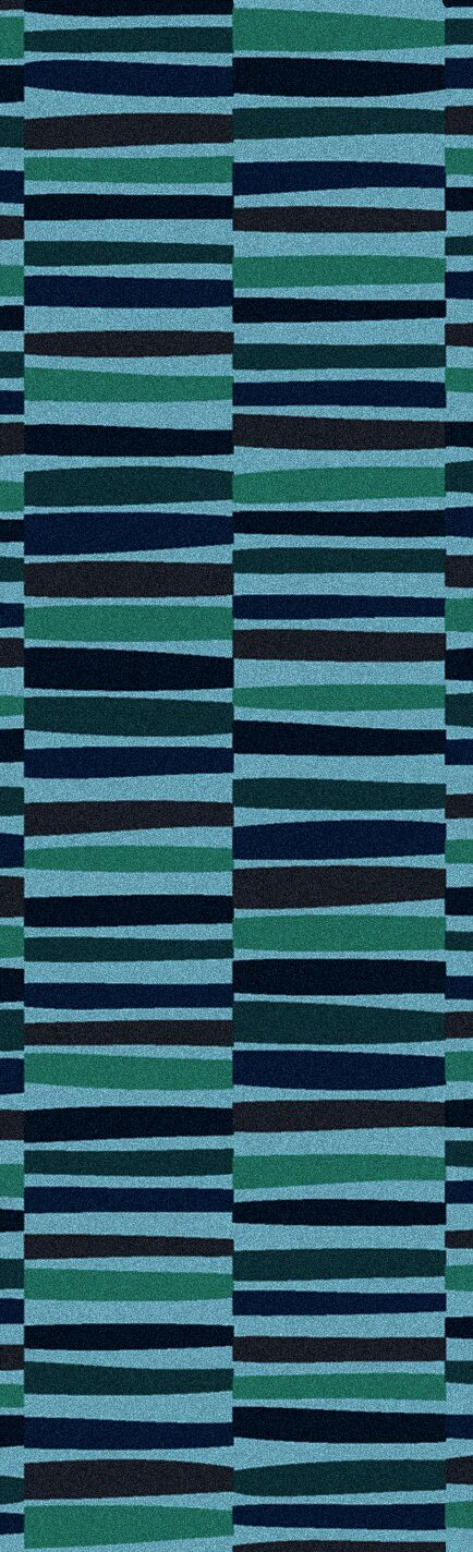 Futch Hand-Tufted Striped Blue Area Rug Rug Size: Runner 2'6