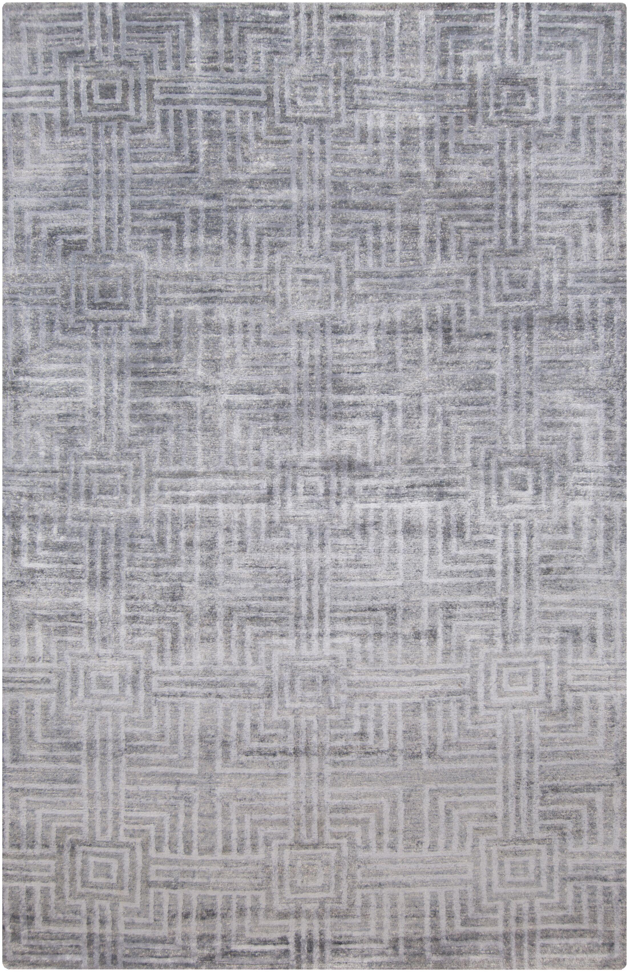 Terrance Slate Geometric Area Rug Rug Size: Rectangle 2' x 3'