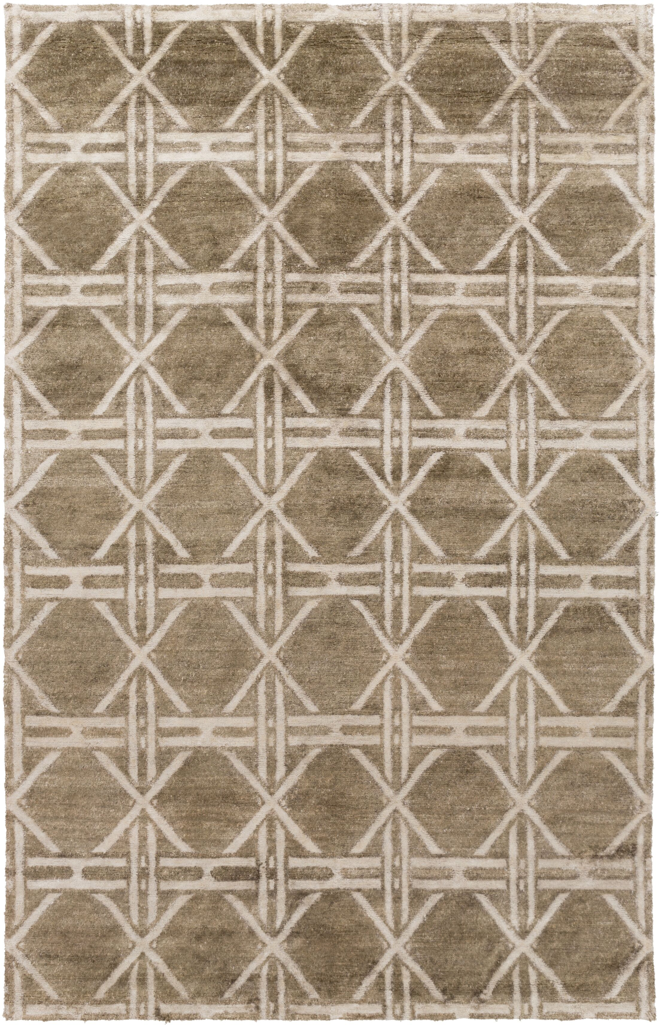Terrance Olive Geometric Area Rug Rug Size: Rectangle 2' x 3'