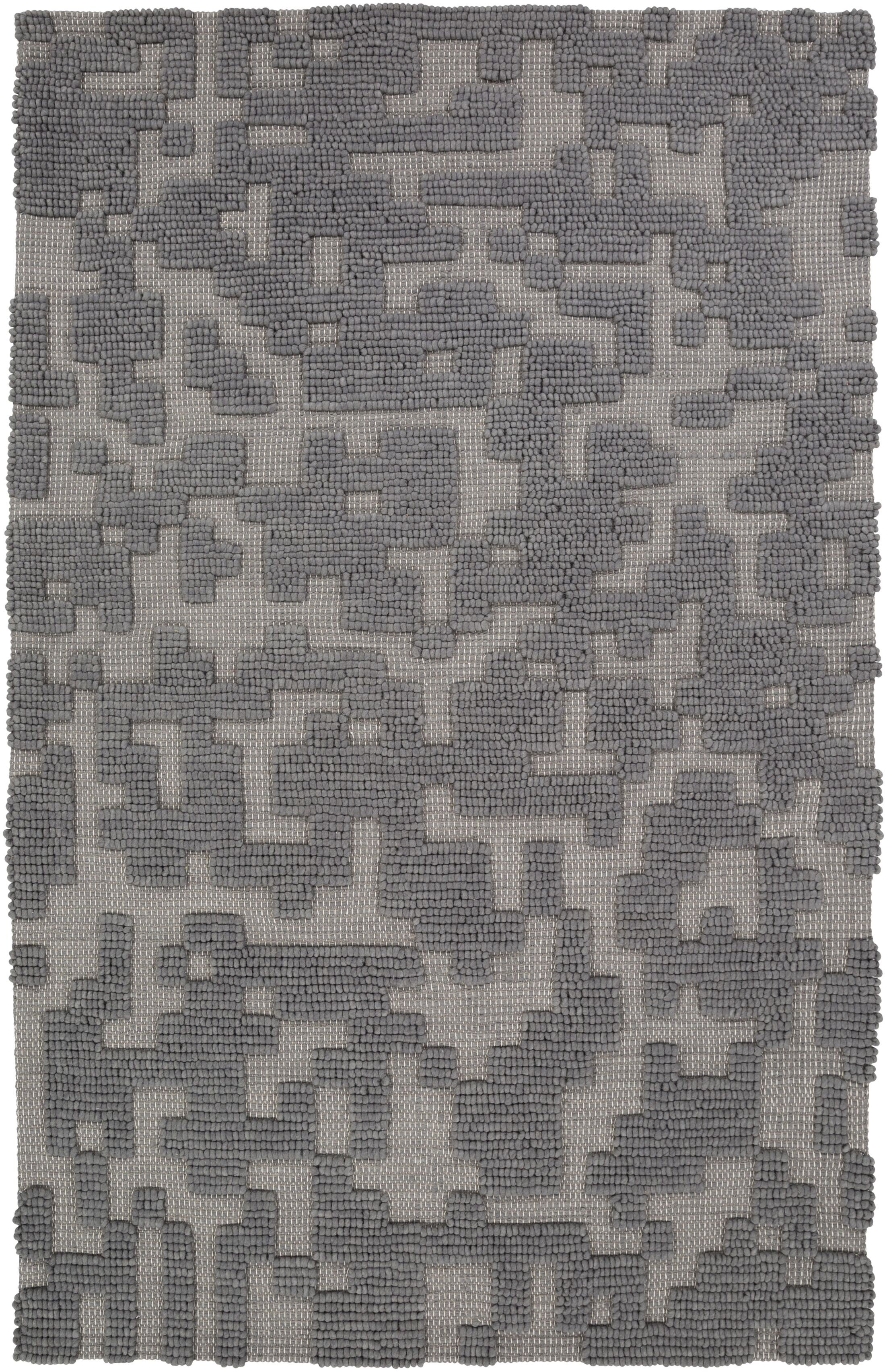 Edmonson Handmade Gray Area Rug Rug Size: Rectangle 8' x 11'