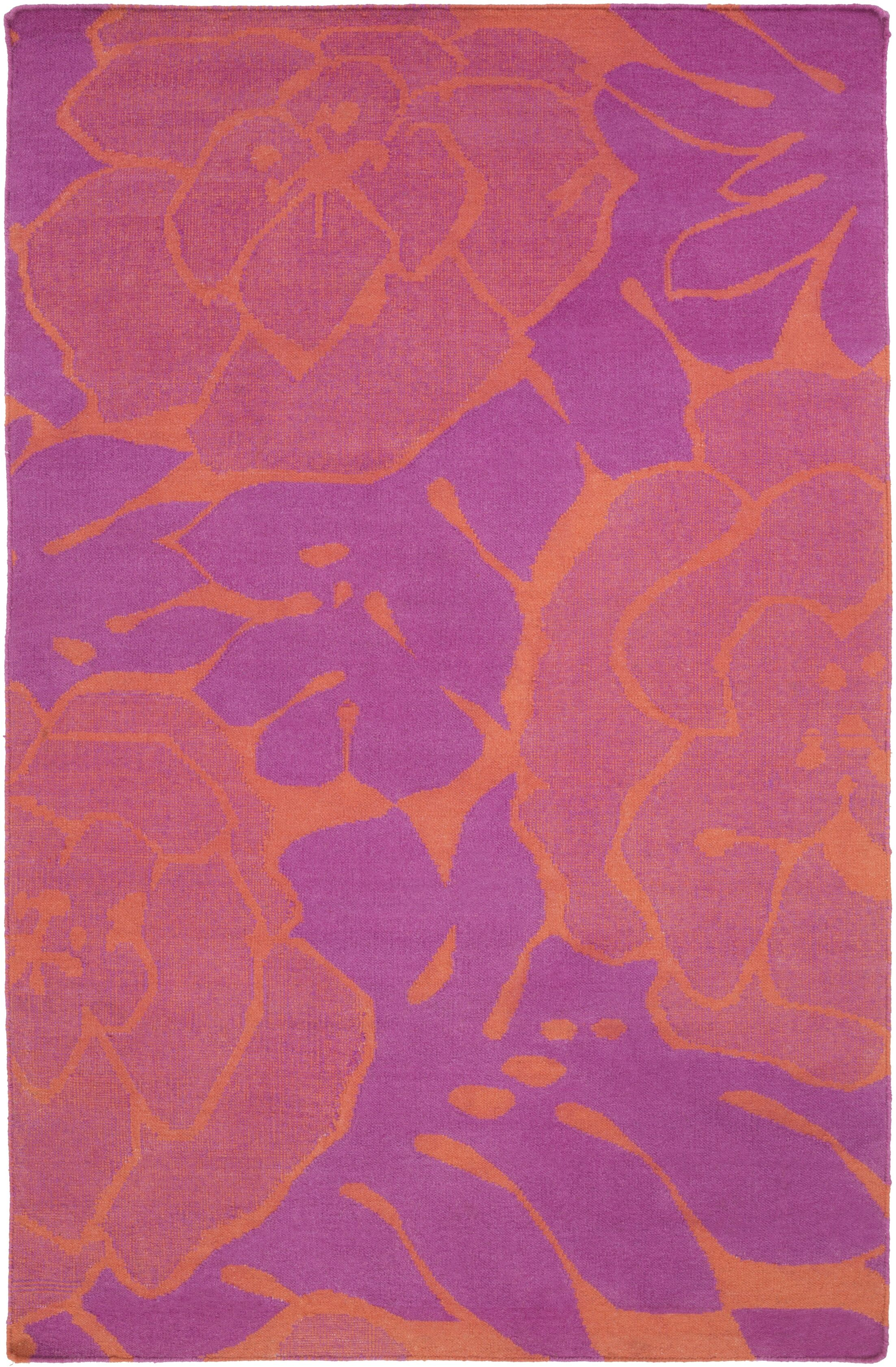 Abigail Hot Pink/Coral Area Rug Rug Size: Rectangle 5' x 8'
