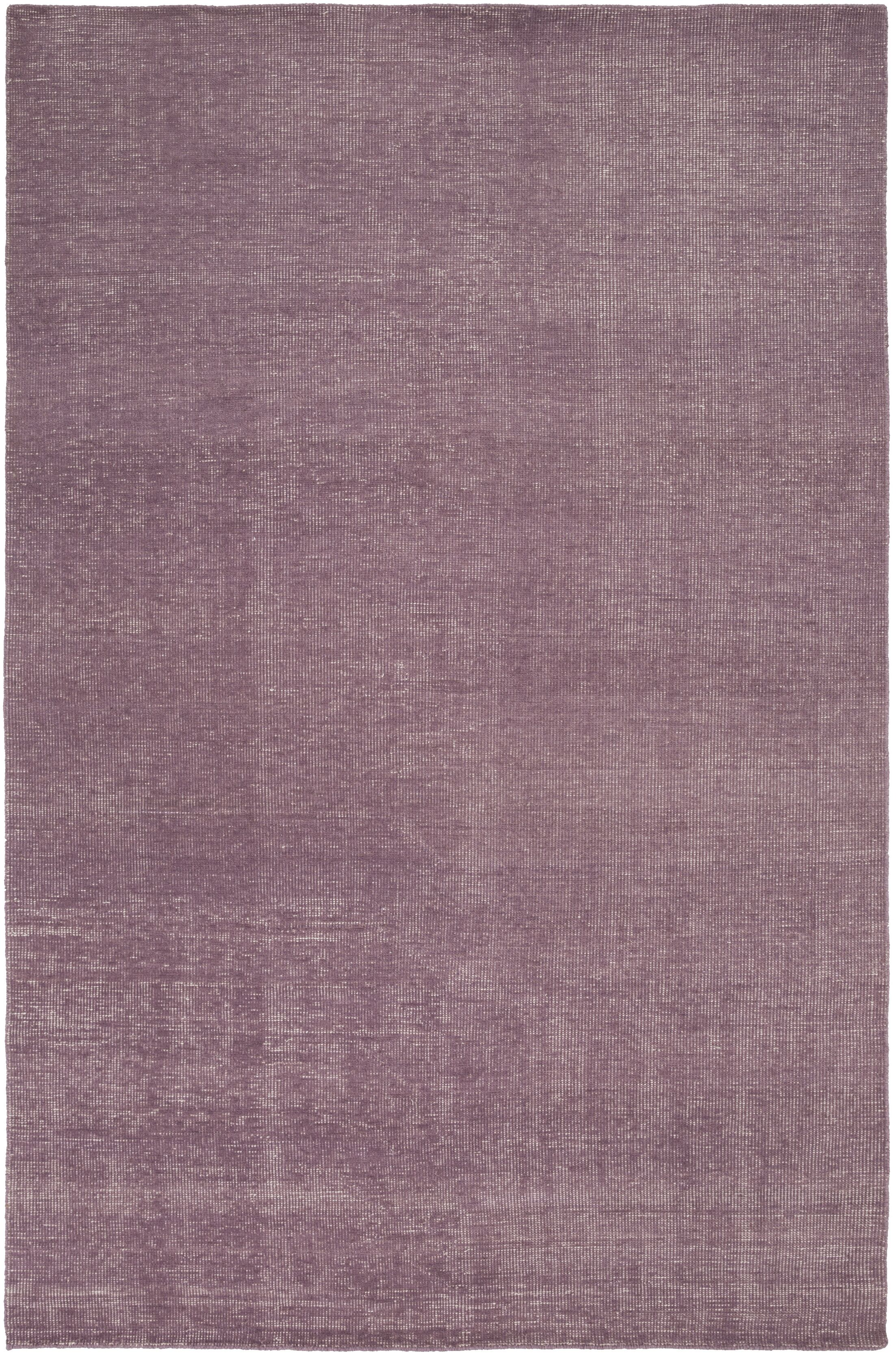 Eberly Mauve Solid Area Rug Rug Size: Rectangle 5'6