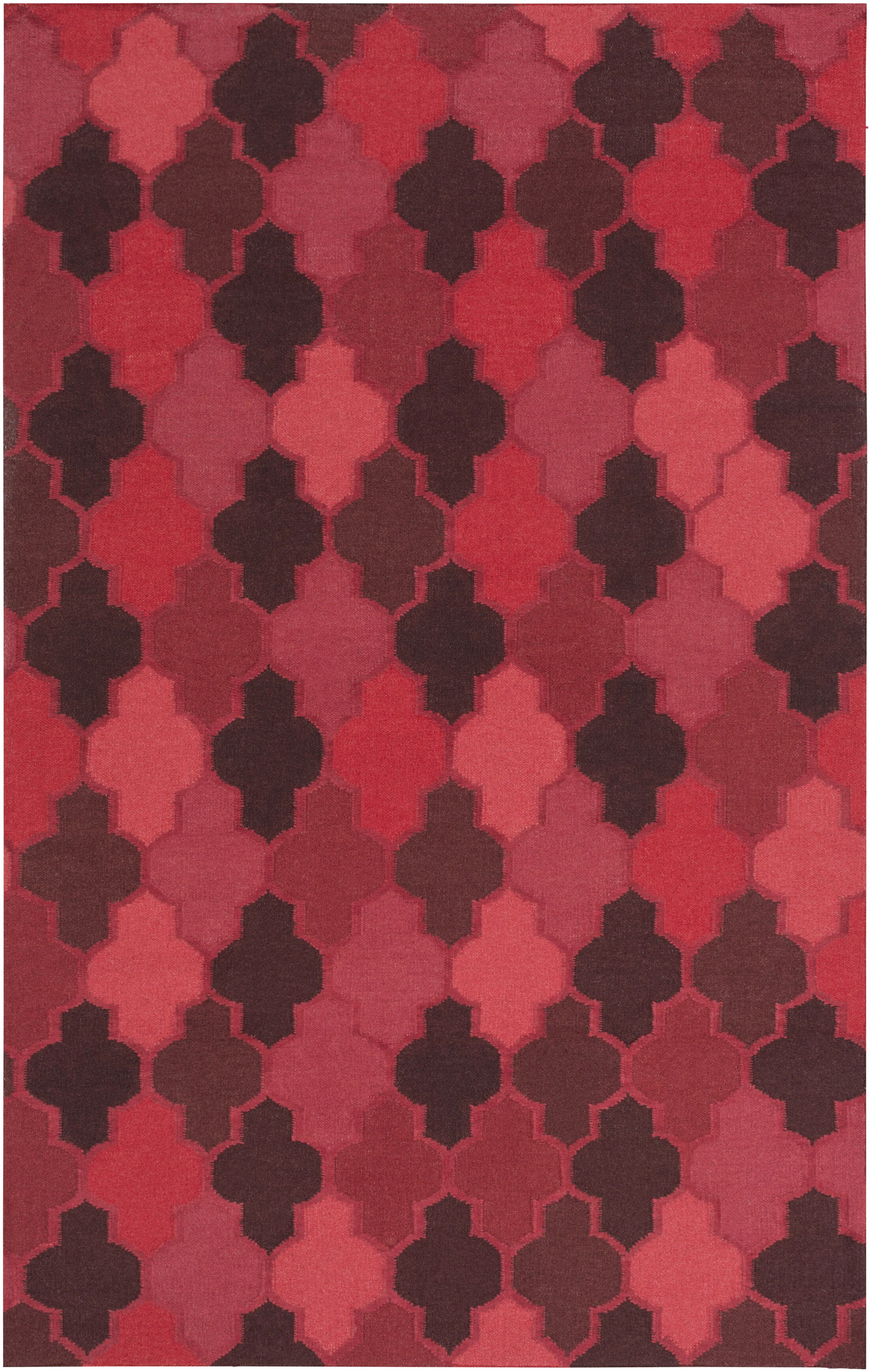 Crispin Cherry Geometric Area Rug Rug Size: Rectangle 8' x 11'