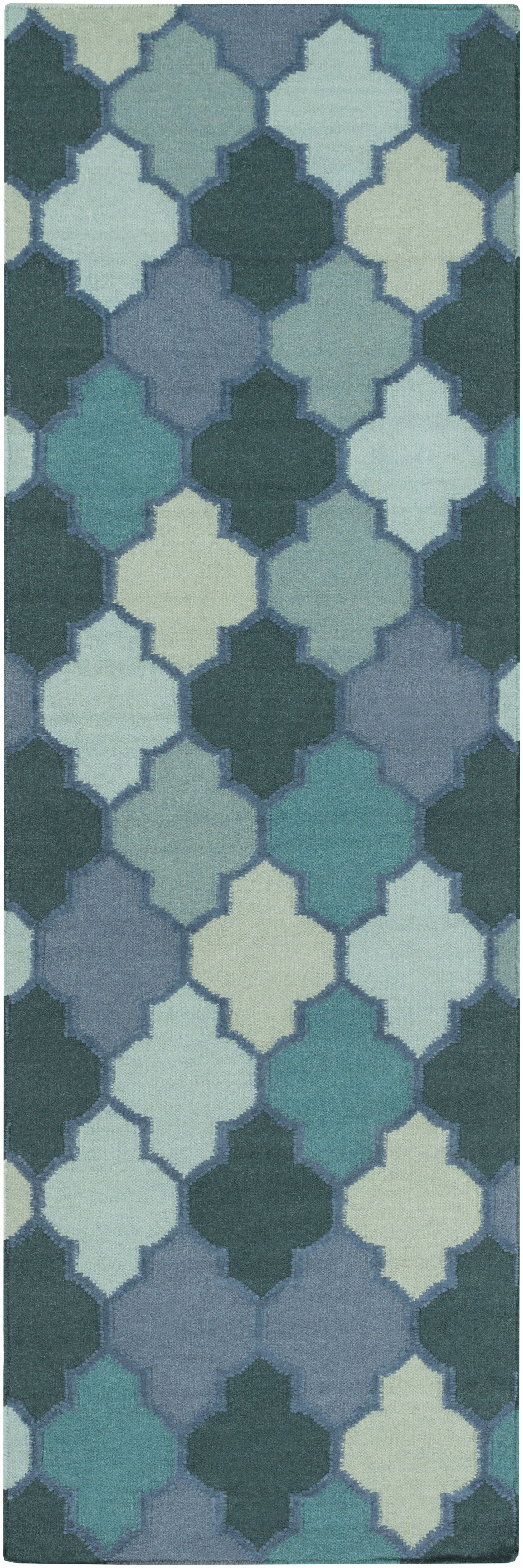 Crispin Mint Geometric Area Rug Rug Size: Runner 2'6