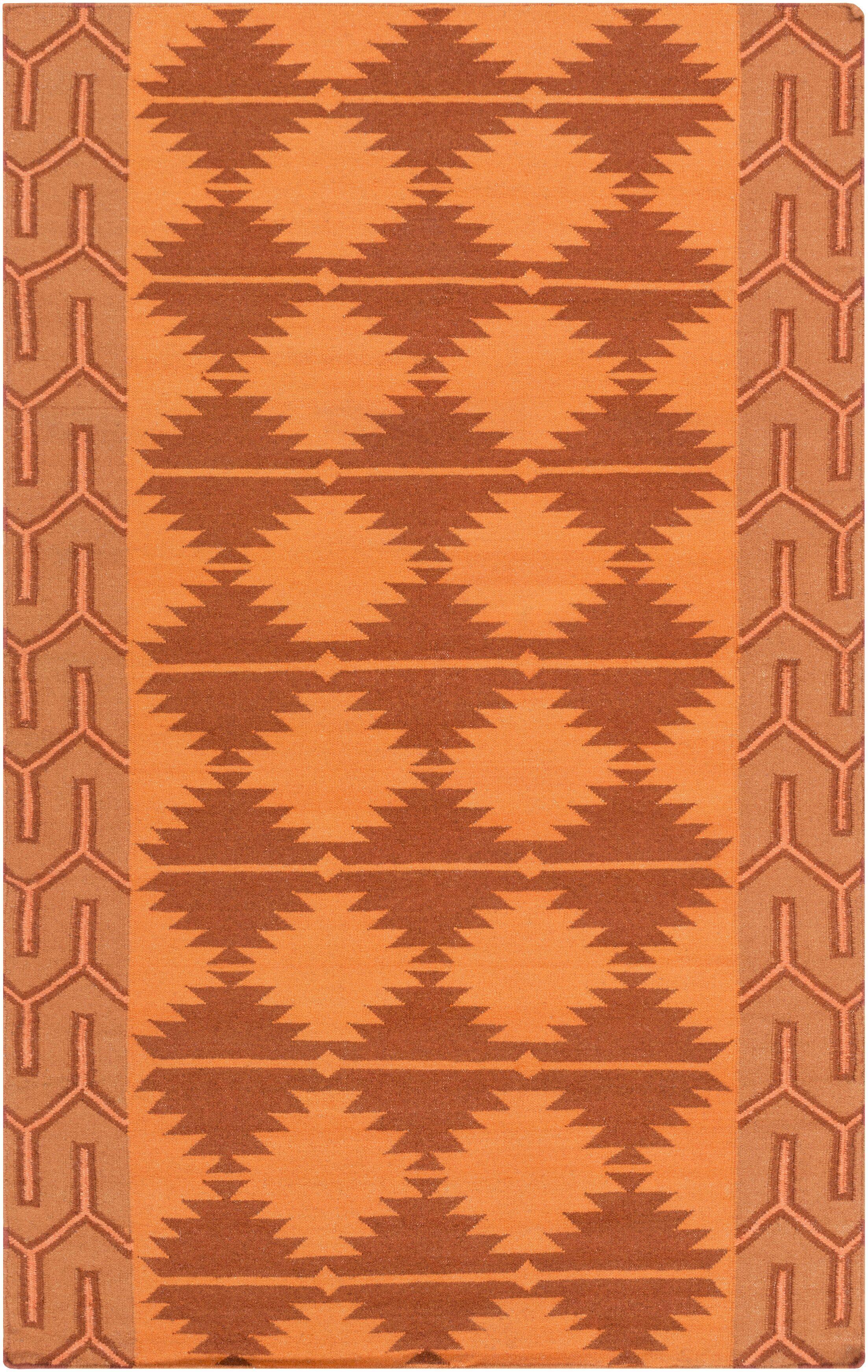 Lewis Burnt Orange Area Rug Rug Size: Rectangle 8' x 11'
