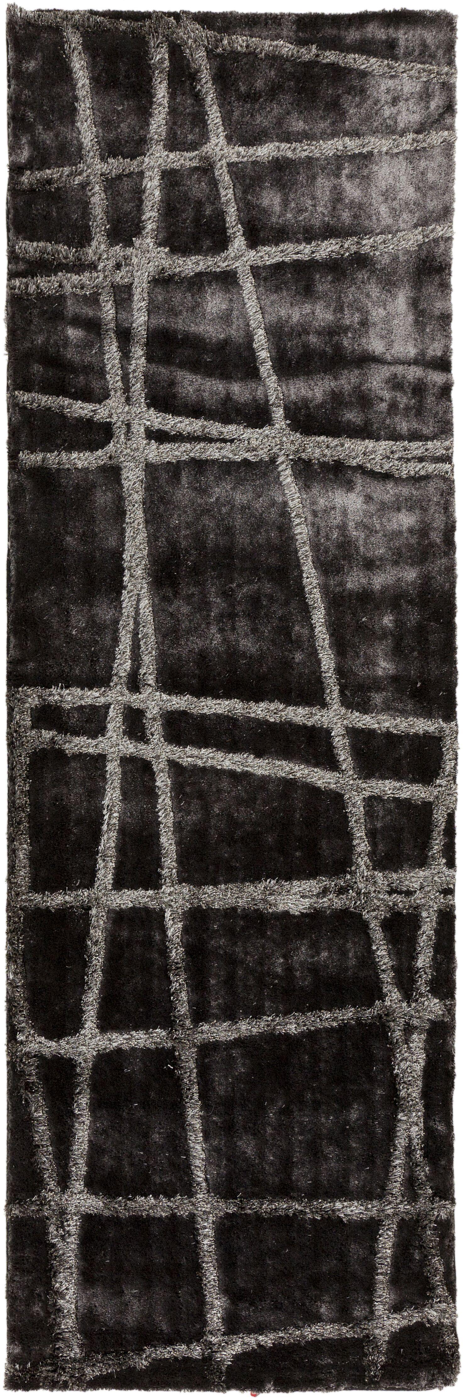 Halterman Pewter/Gray Geometric Area Rug Rug Size: Rectangle 5' x 8'
