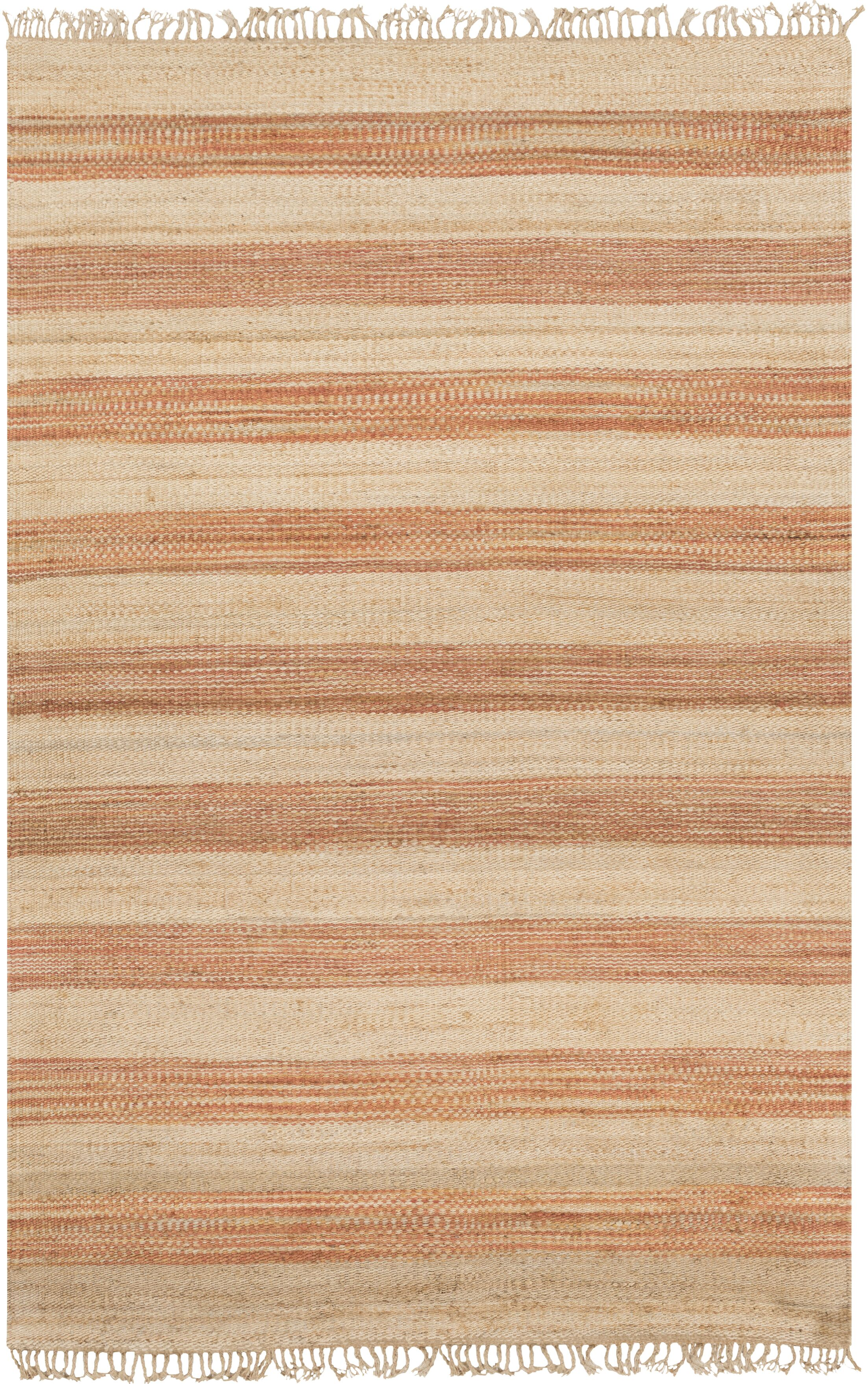 Julia Beige/Burnt Orange Area Rug Rug Size: Rectangle 5' x 8'