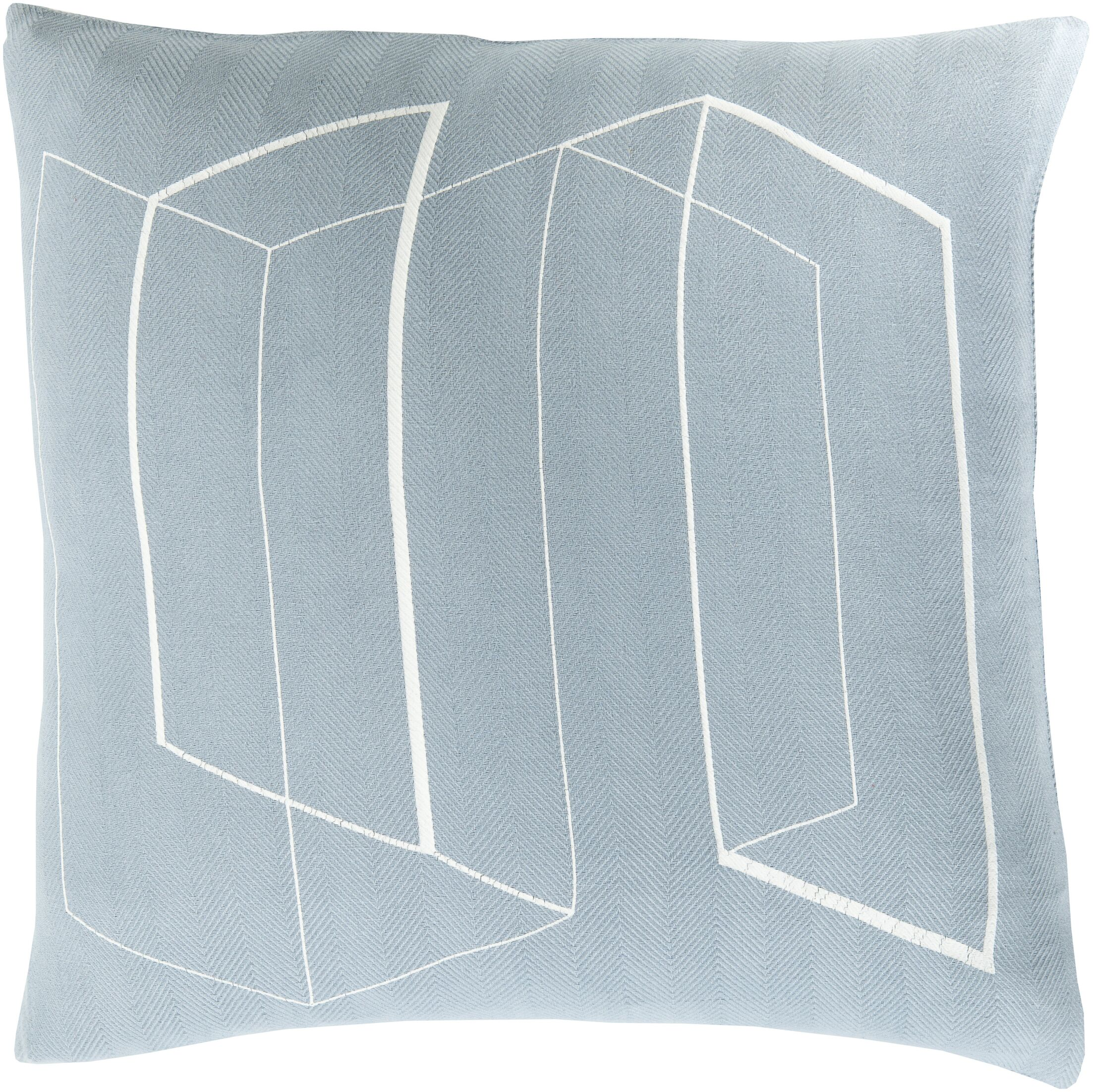 Ismay Throw Pillow Color: Blue, Size: 20