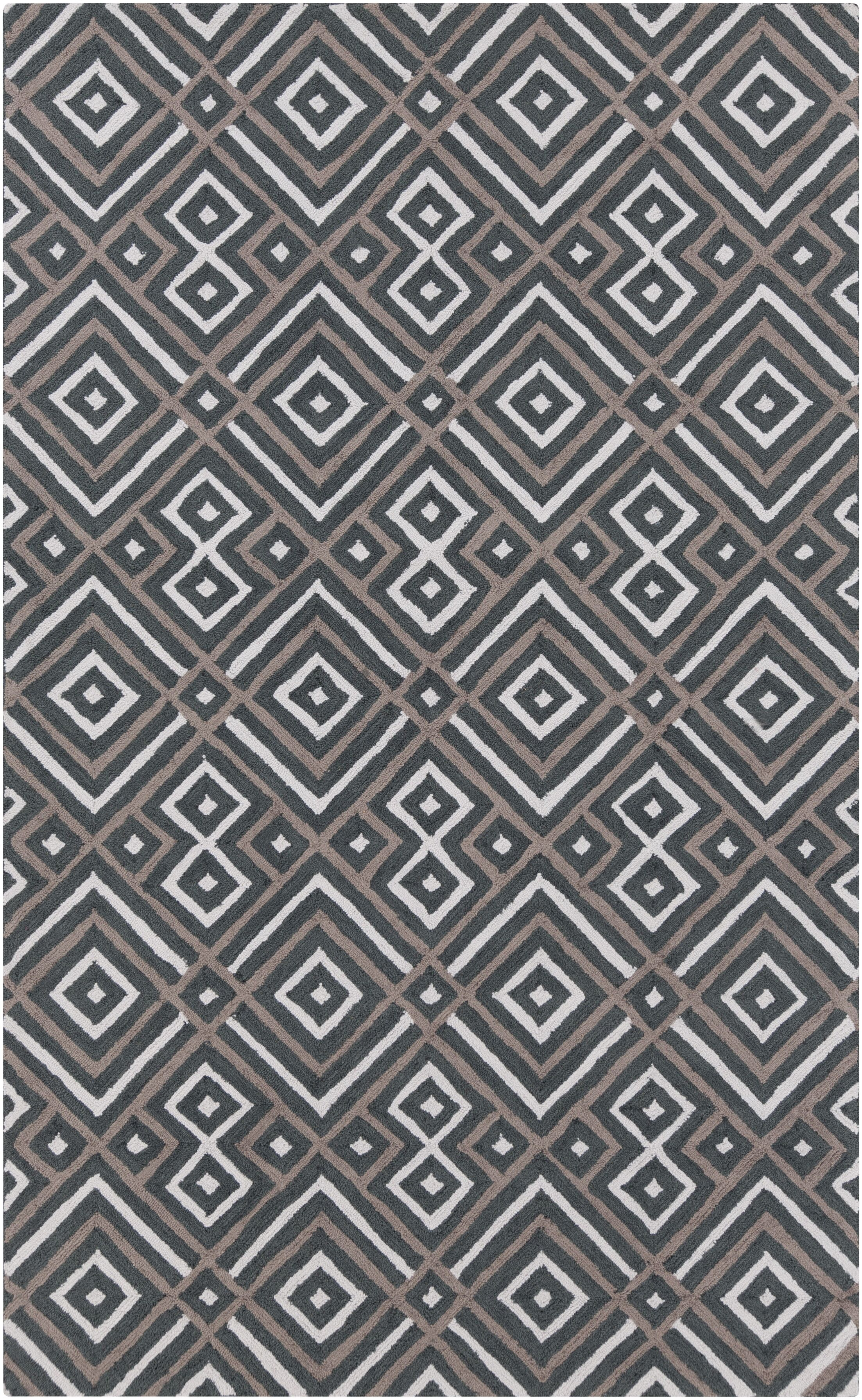 Sudbury Handmade Gray Area Rug Rug Size: Rectangle 5' x 8'