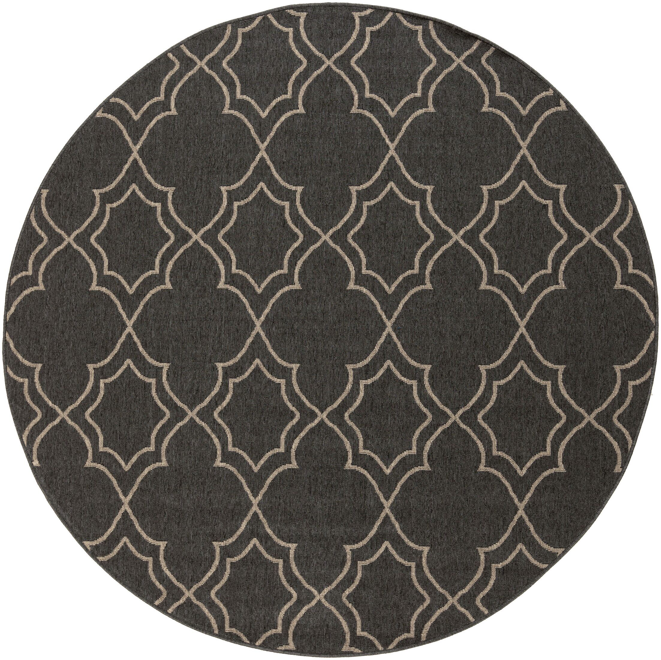 Amato Taupe Indoor/Outdoor Area Rug Rug Size: Round 5'3