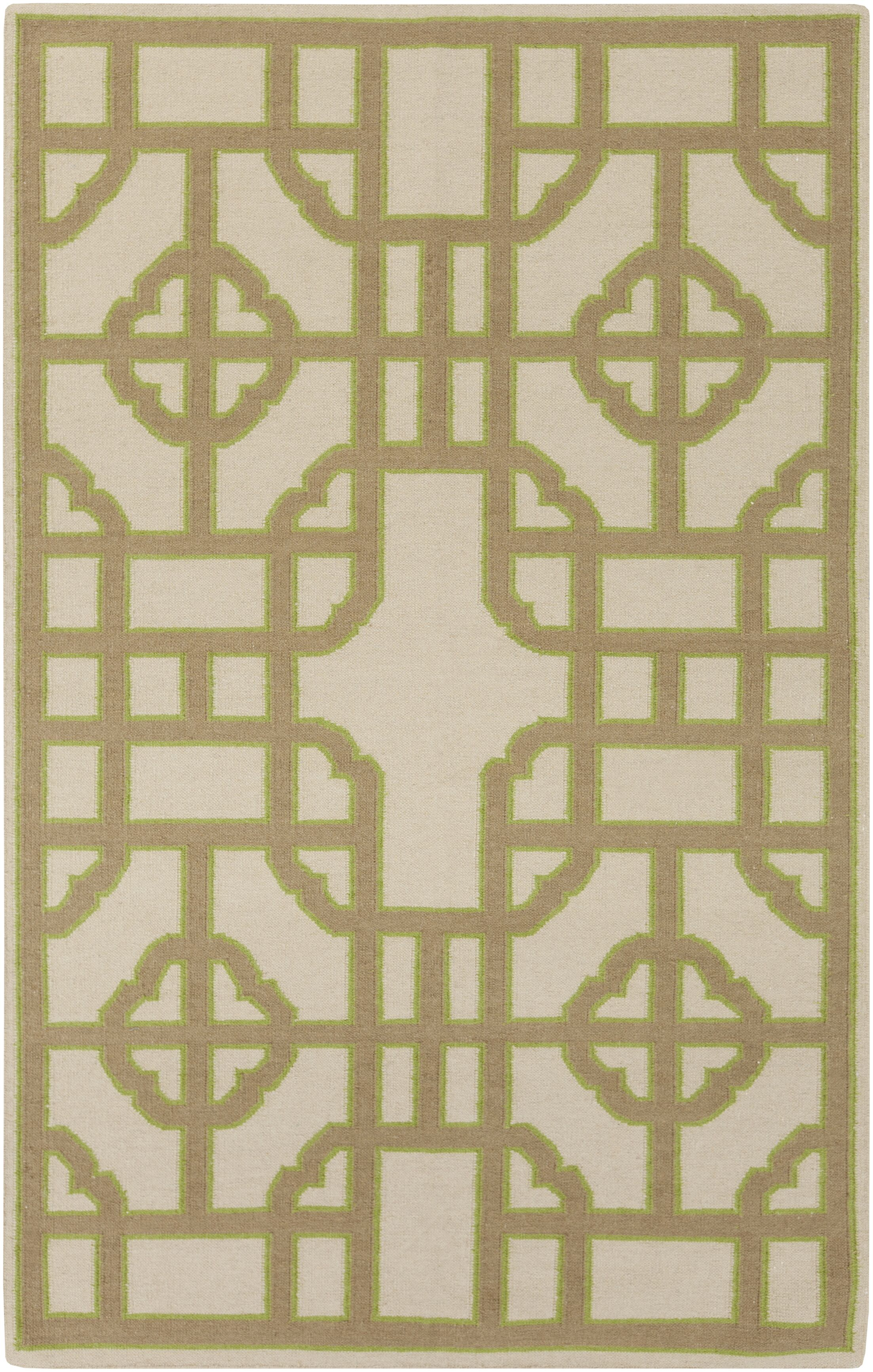 Elsmere Beige/Taupe Geometric Hand Woven Area Rug Rug Size: Rectangle 5' x 8'