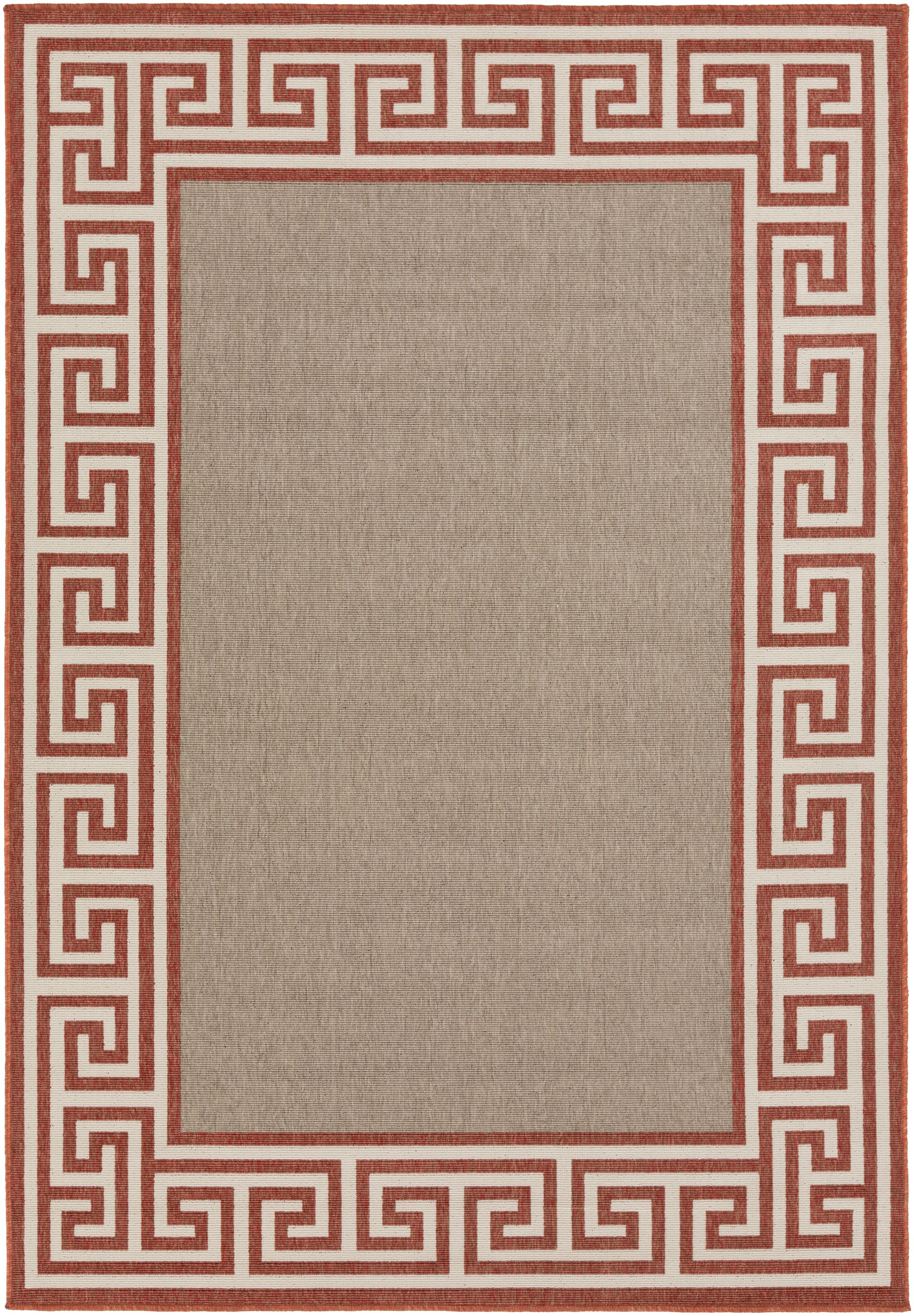 Pearce Rust/Taupe Indoor/Outdoor Area Rug Rug Size: Rectangle 8'9