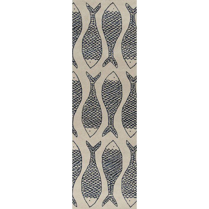 Brickyard Bone/Federal Blue Rug Rug Size: Rectangle 8' x 11'