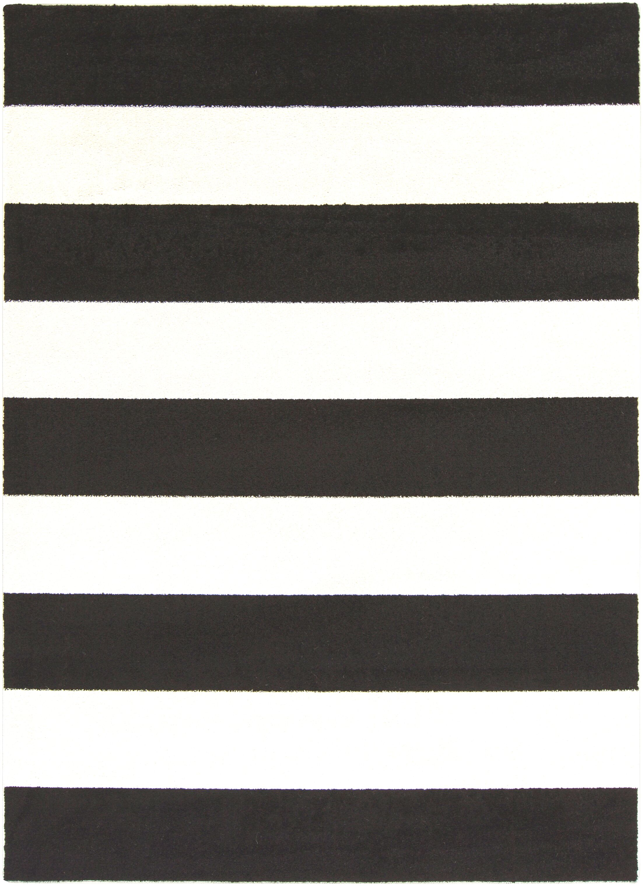 Greer Black/Cream Area Rug Rug Size: Rectangle 5'3