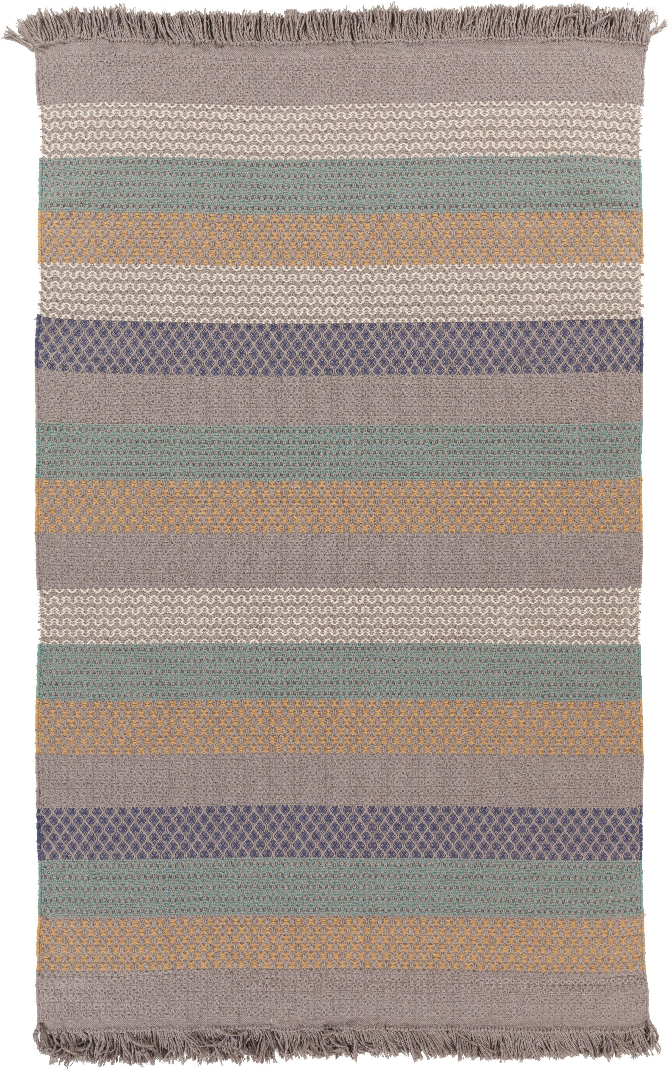 Ayana Hand-Woven Stripe Area Rug Rug Size: Rectangle 5' x 8'