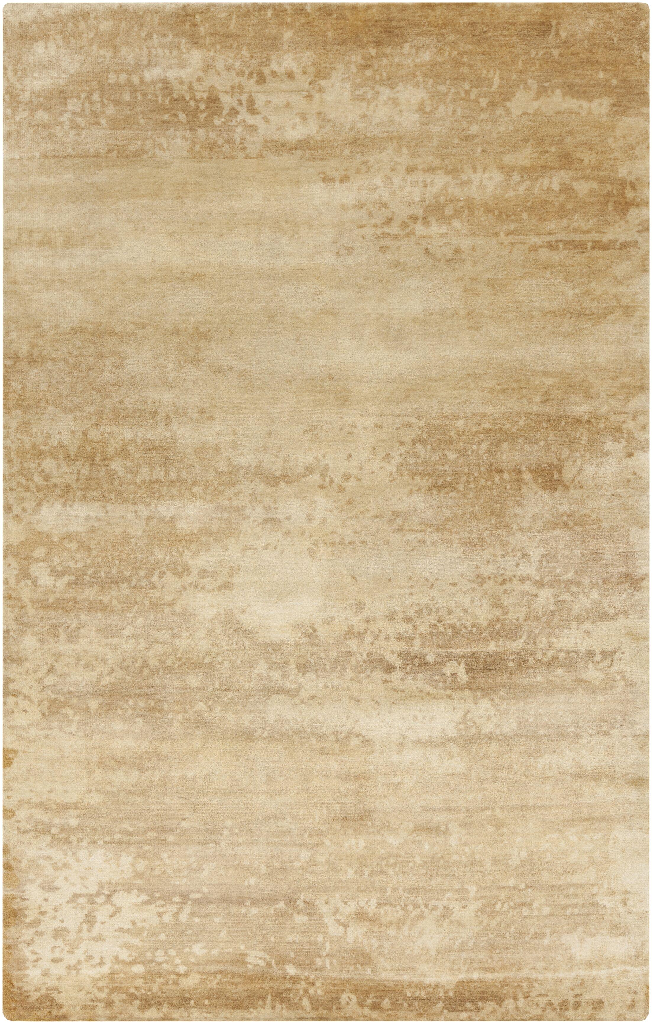 Chane Hand-Knotted Tan/Khaki Area Rug Rug Size: Rectangle 5' x 8'