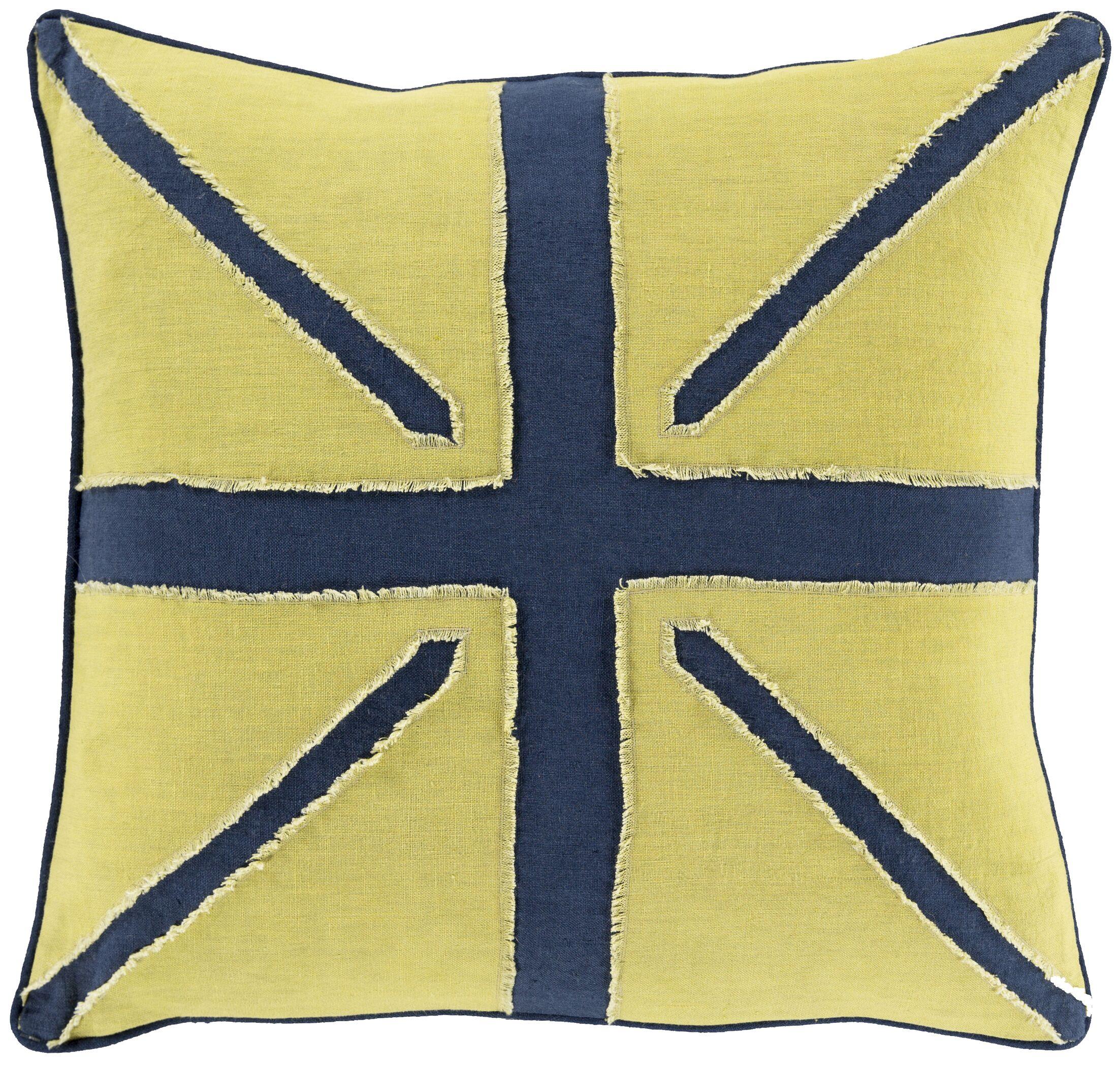 Harriotte Linen Throw Pillow Size: 18