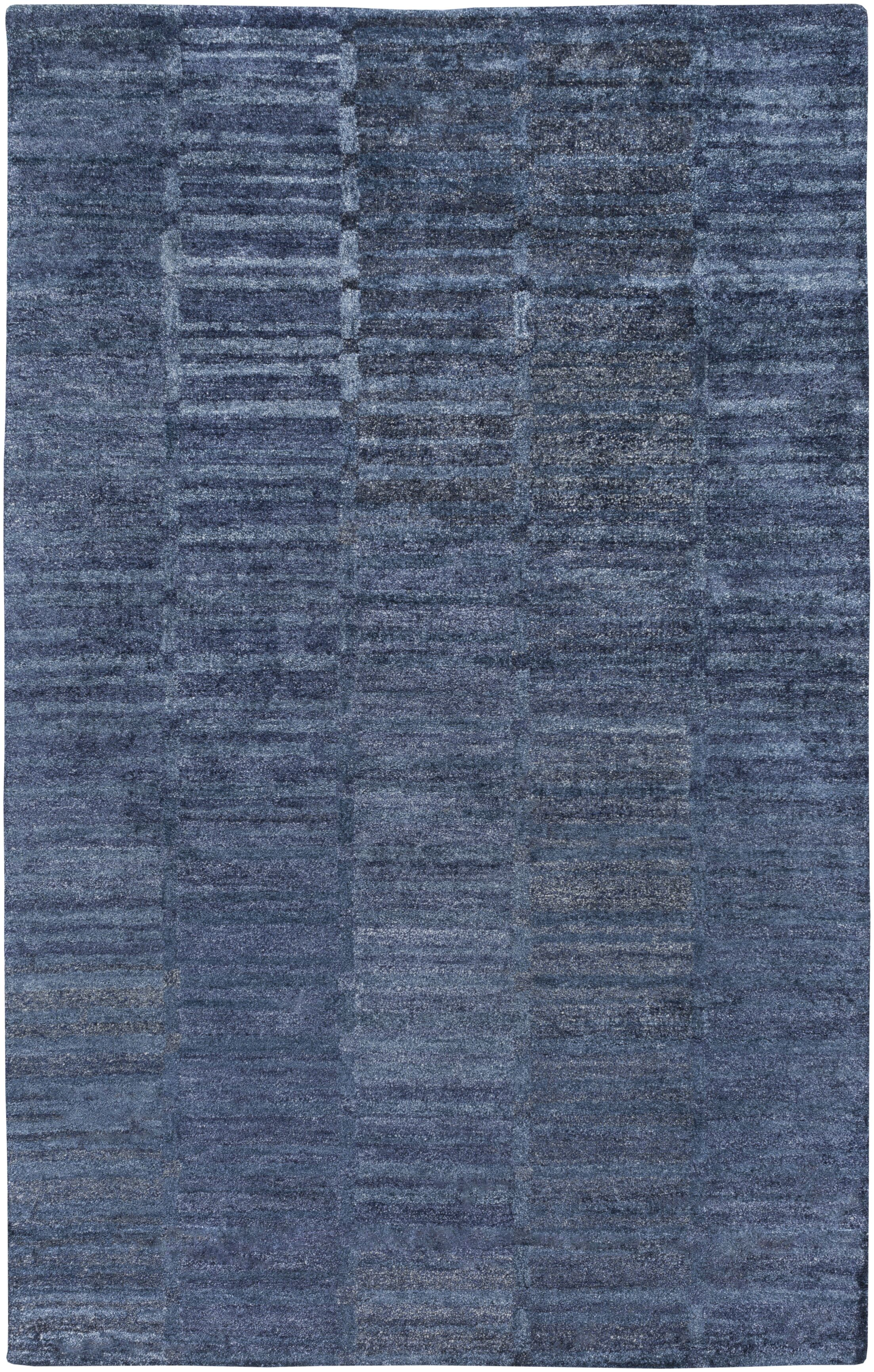 Clemmer Hand-Tufted Teal Area Rug Rug Size: Rectangle 5' x 8'