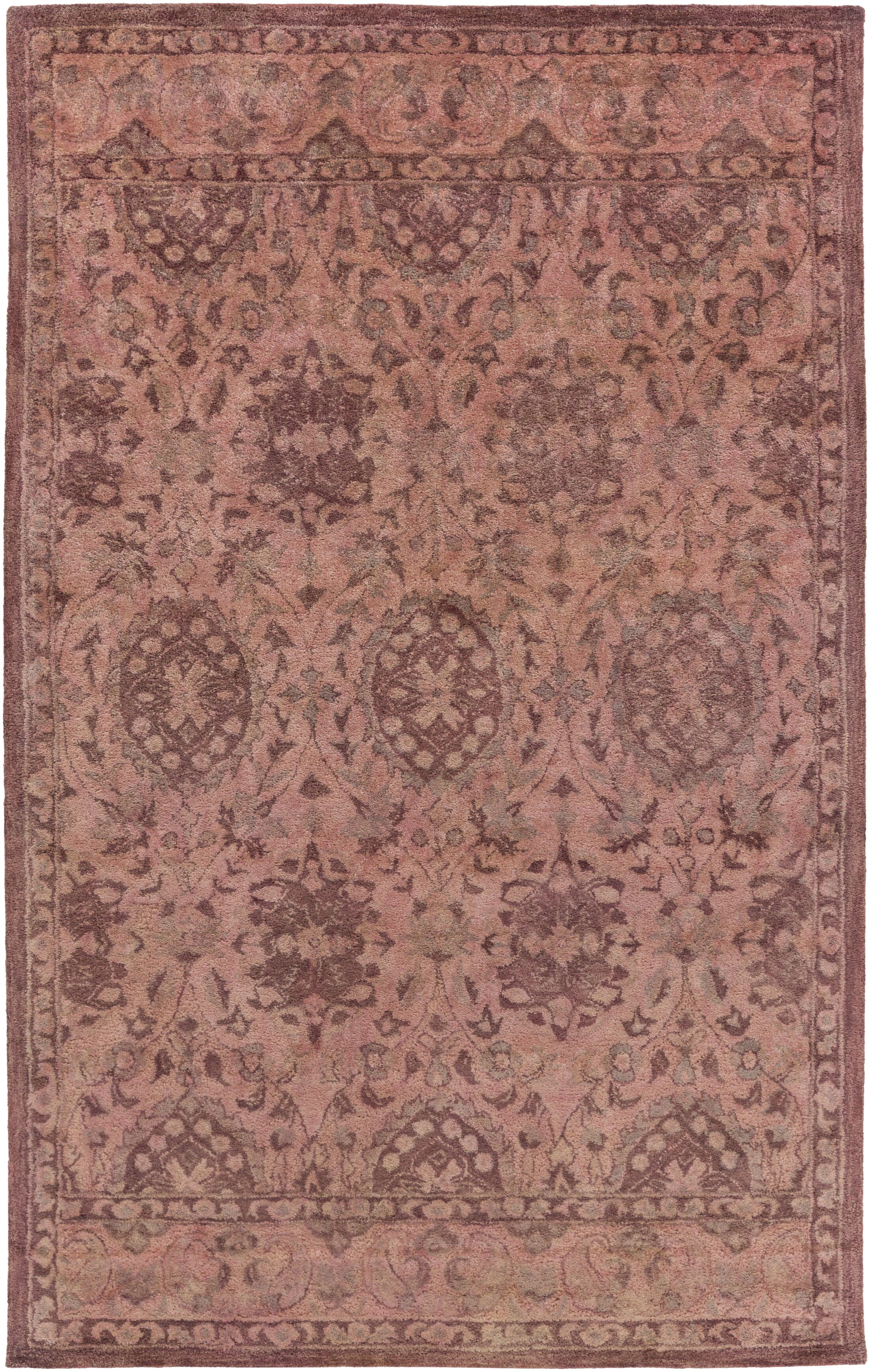 Arensburg Hand-Tufted Salmon/Pastel Pink Area Rug Rug Size: Rectangle 5' x 8'
