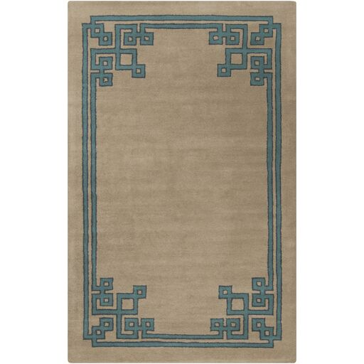 Eugenie Taupe/Teal Area Rug Rug Size: Rectangle 8' x 11'