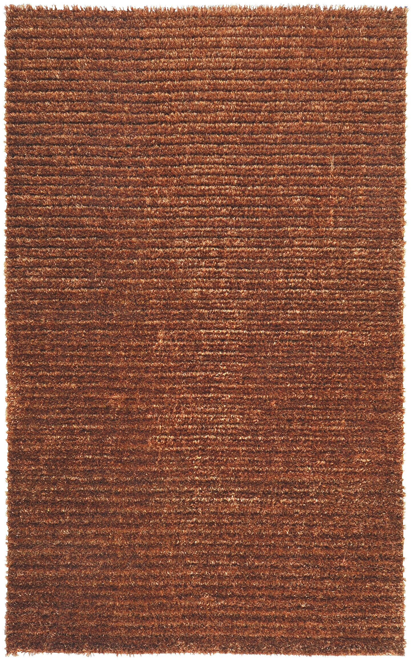 Greenwood Rust Brown/Tan Solid Area Rug Rug Size: Rectangle 5' x 8'