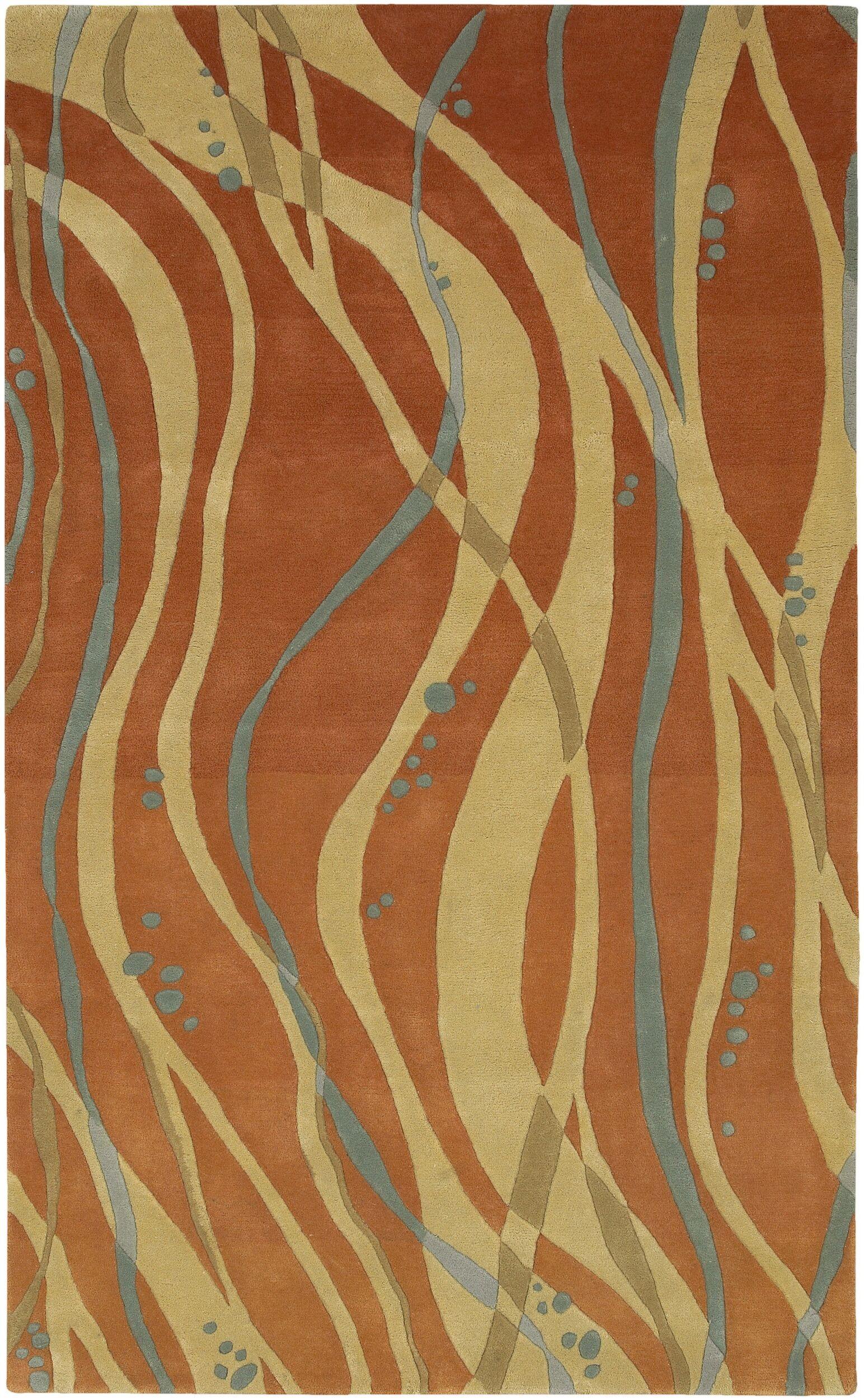 Macie Tangerine Rug Rug Size: Rectangle 8' x 11'