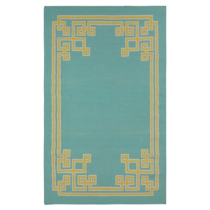 Ermont Sky Blue Area Rug Rug Size: Rectangle 8' x 11'