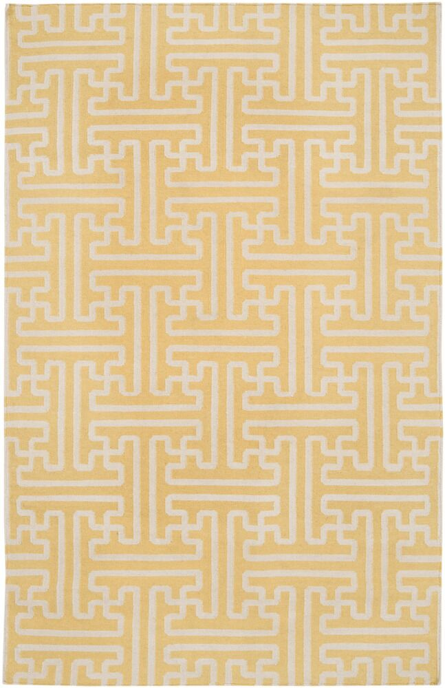 Brinda Gold & Ivory Area Rug Rug Size: Rectangle 8' x 11'