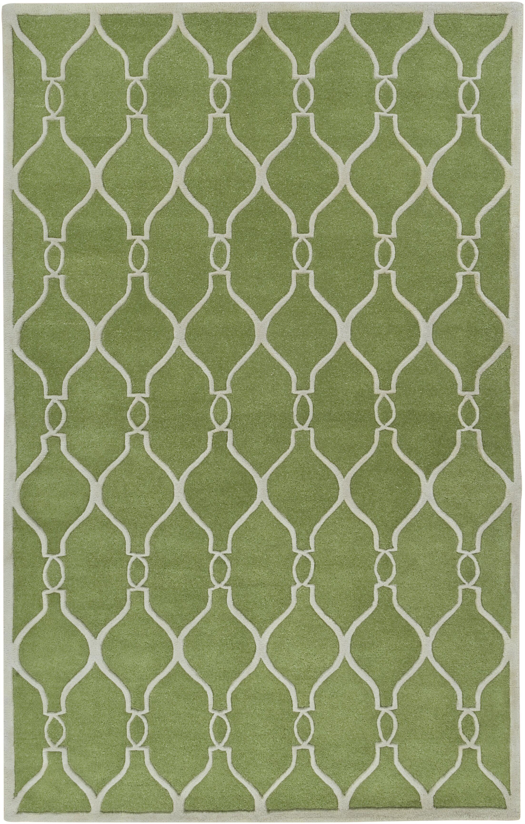 Medora Geometric Green Area Rug Rug Size: Rectangle 3'3