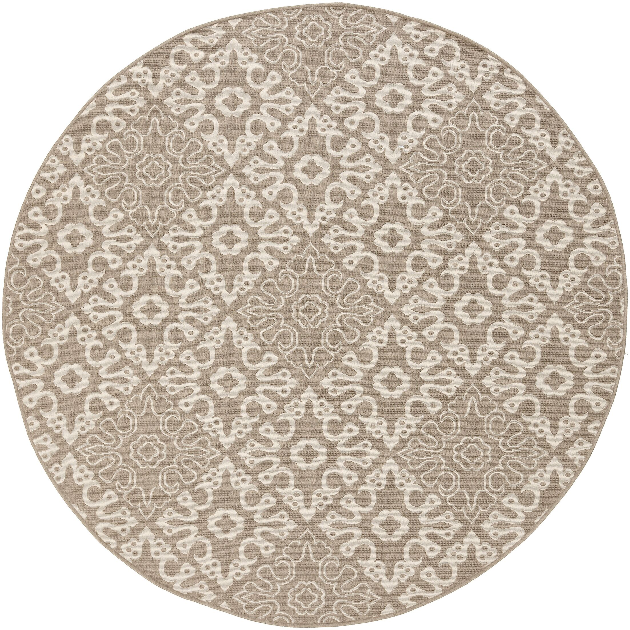 Lydia Natural Indoor/Outdoor Rug Rug Size: Round 5'3
