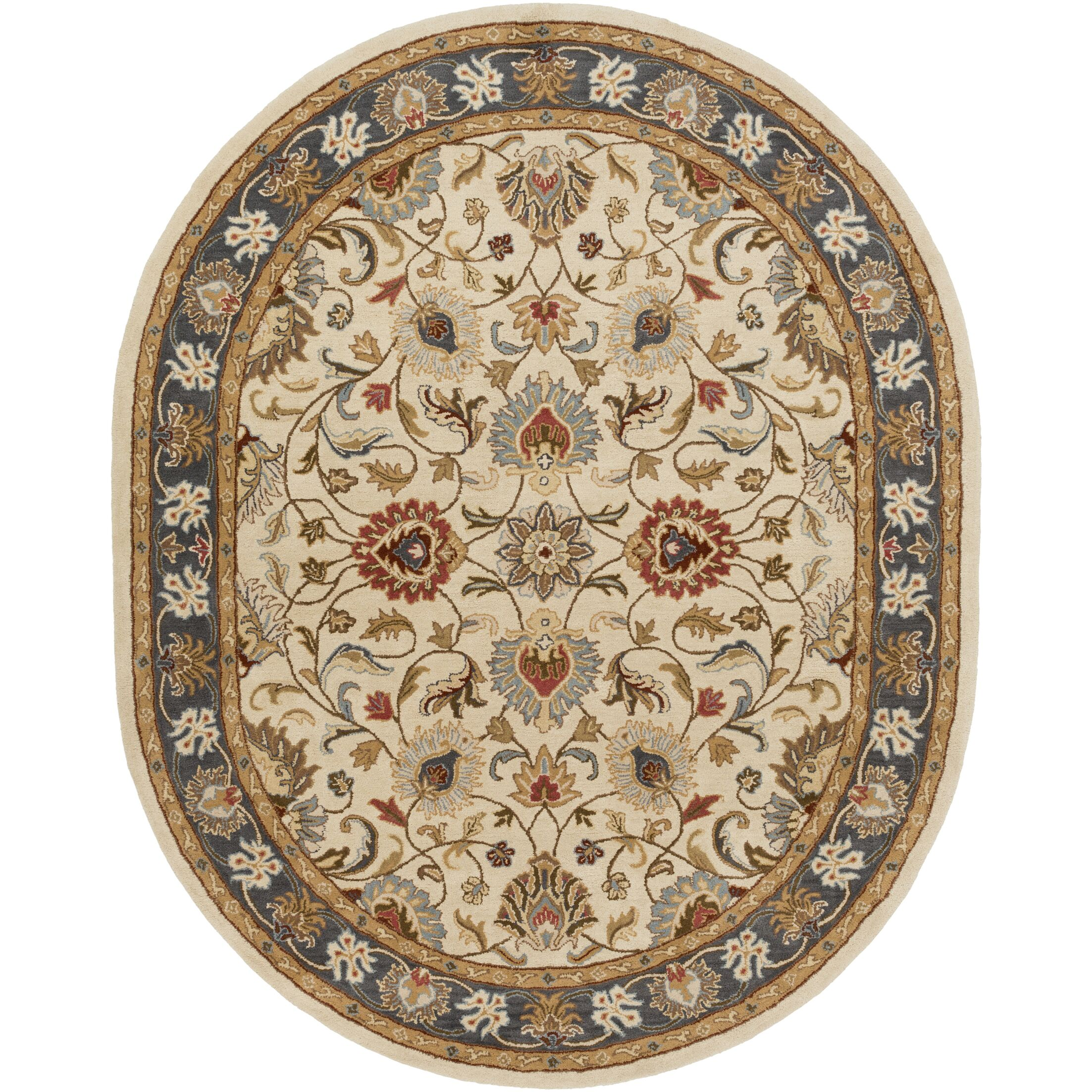Topaz Hand-Tufted Area Rug Rug Size: Oval 6' x 9'