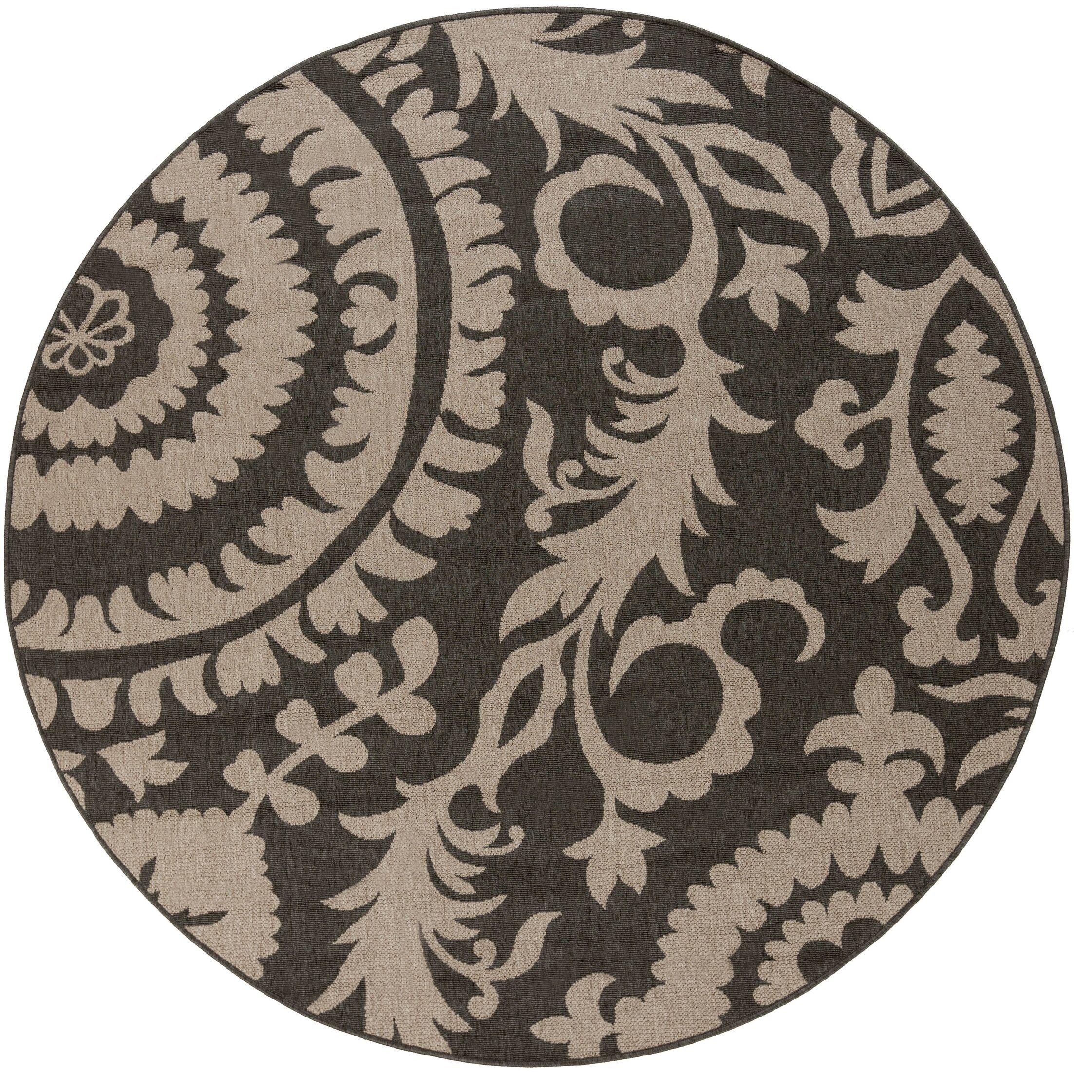 Hattie Pewter & Natural Indoor/Outdoor Rug Rug Size: Rectangle 6' x 9'