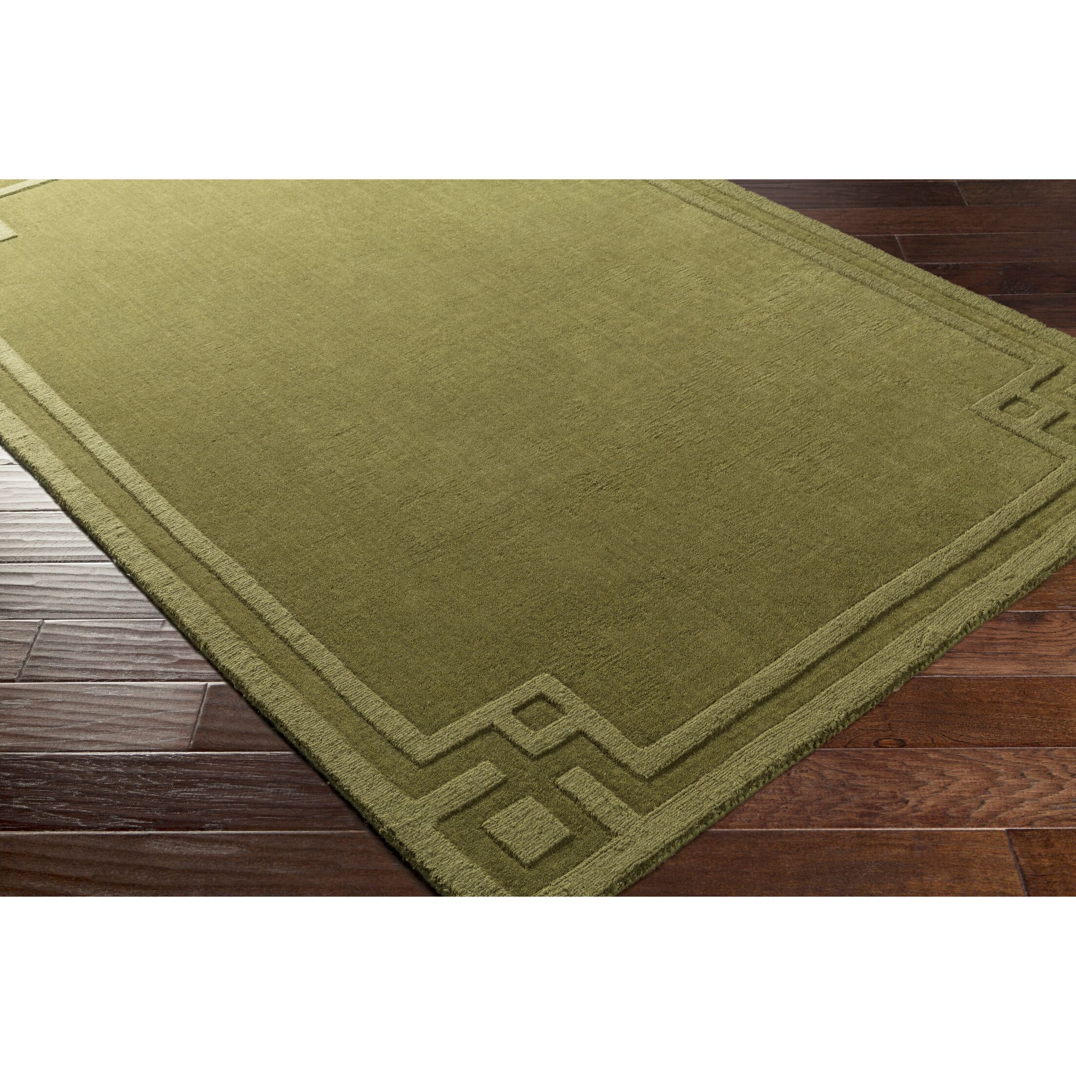 Giovanni Hand-Loomed Olive Area Rug Rug Size: Rectangle 3'3