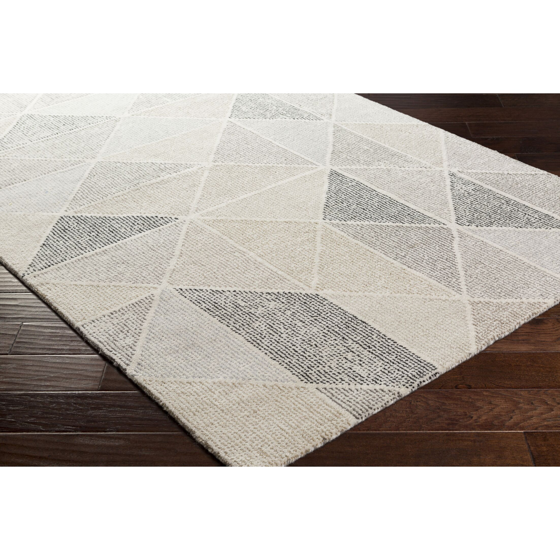 Madero Hand-Tufted Charcoal/Ivory Area Rug Rug Size: Rectangle 5' x 7'6