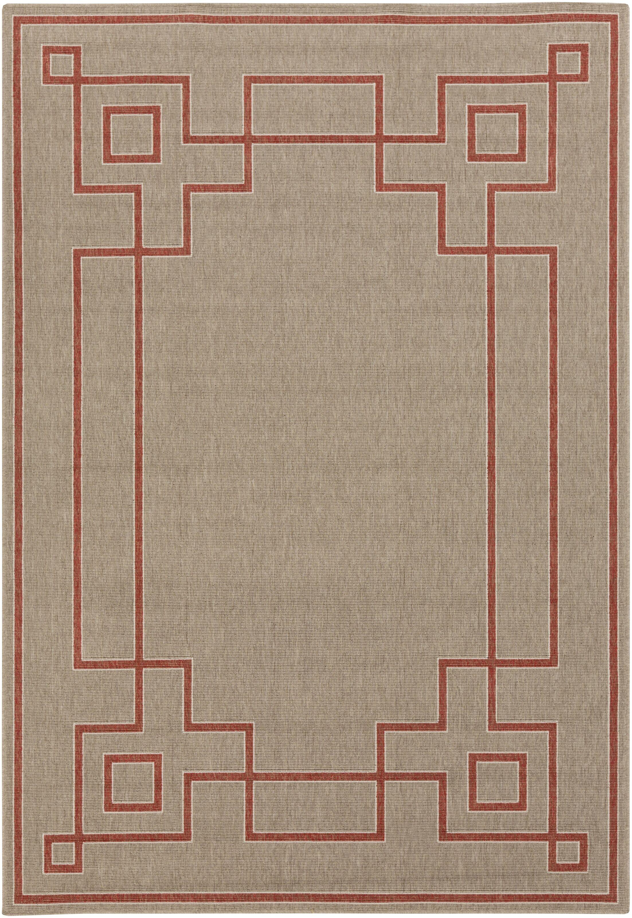 Harbin Rust Indoor/Outdoor Area Rug Rug Size: Rectangle 6' x 9'