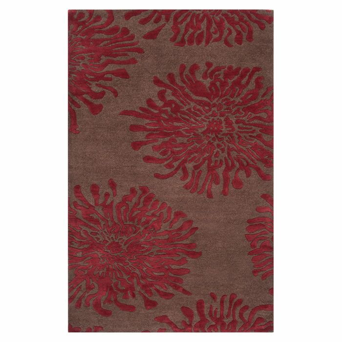Parson Chocolate/Red Area Rug Rug Size: Rectangle 8' x 11'