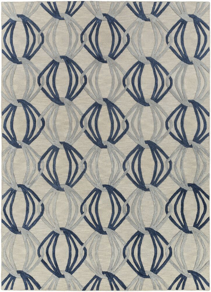 Stow Light Gray/Blue Area Rug Rug Size: Rectangle 3'3