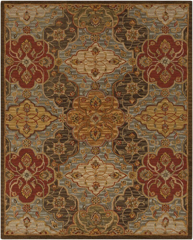 Burwood Fatigue Hand-Tufted Wool Fatigue Green/Camel Area Rug Rug Size: Rectangle 8' x 10'