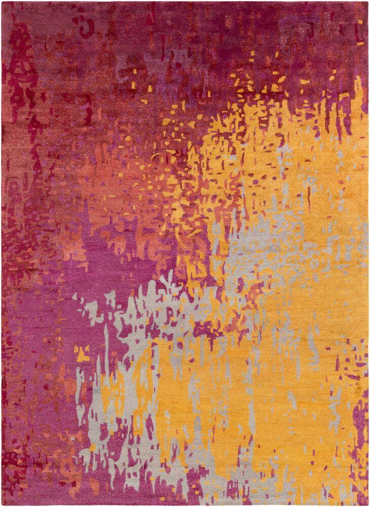 Johnna Hand-Tufted Burgundy/Gold Area Rug Rug Size: Rectangle 3'3