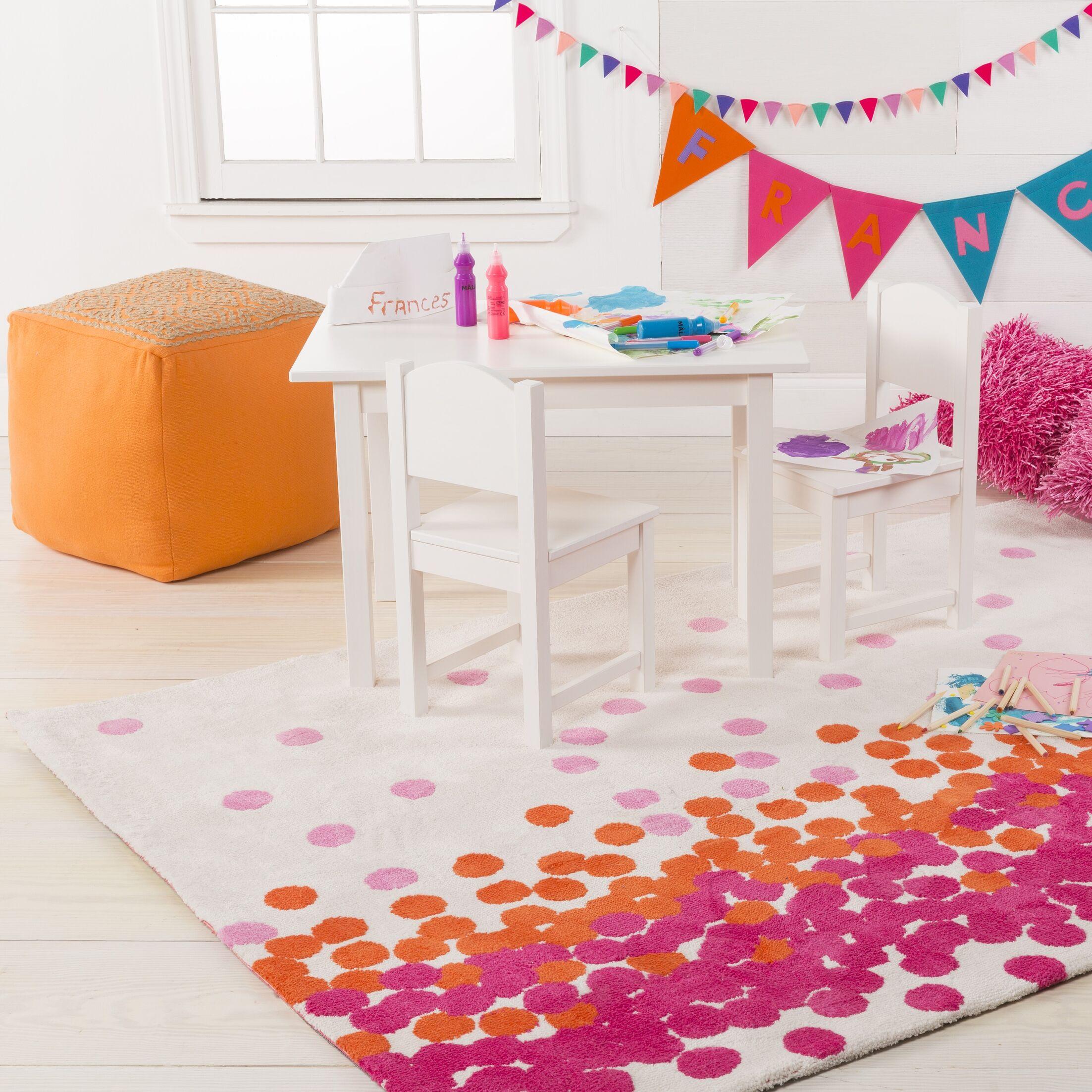 Clive Hot Pink/Carnation Area Rug Rug Size: Rectangle 8' x 11'