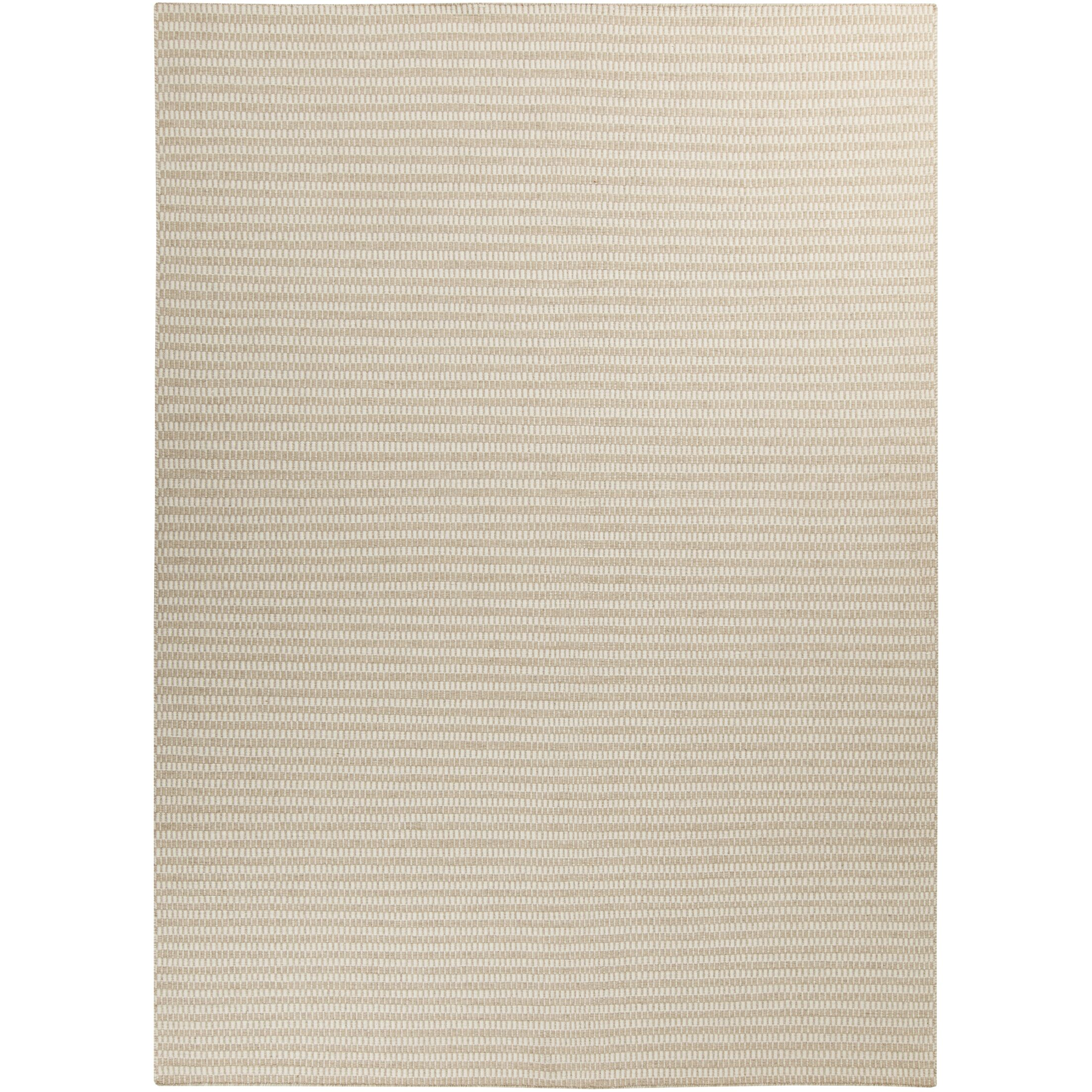 Walton Winter White/Desert Sand Striped Rug Rug Size: Rectangle 8' x 11'