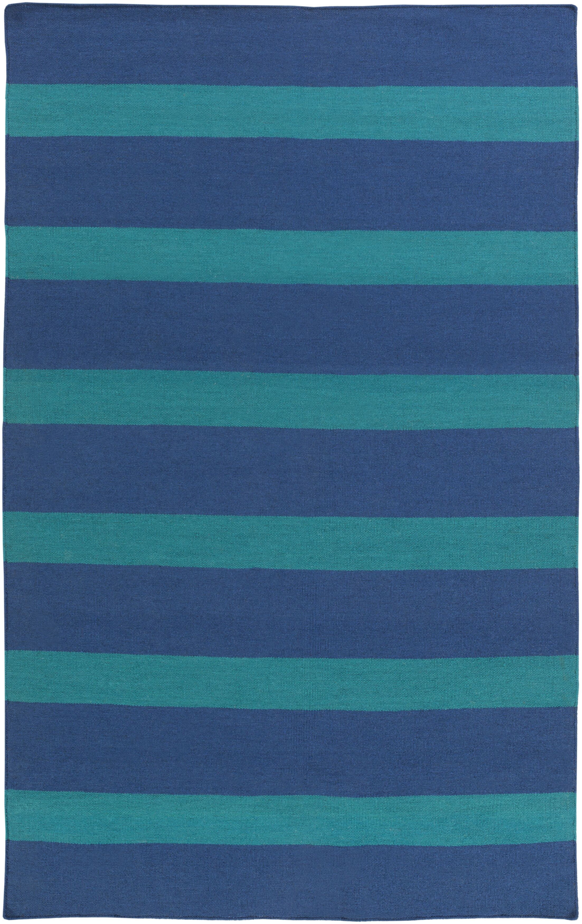 Peugeot Hand-Woven Blue/Green Outdoor Area Rug Rug Size: Rectangle 3'6