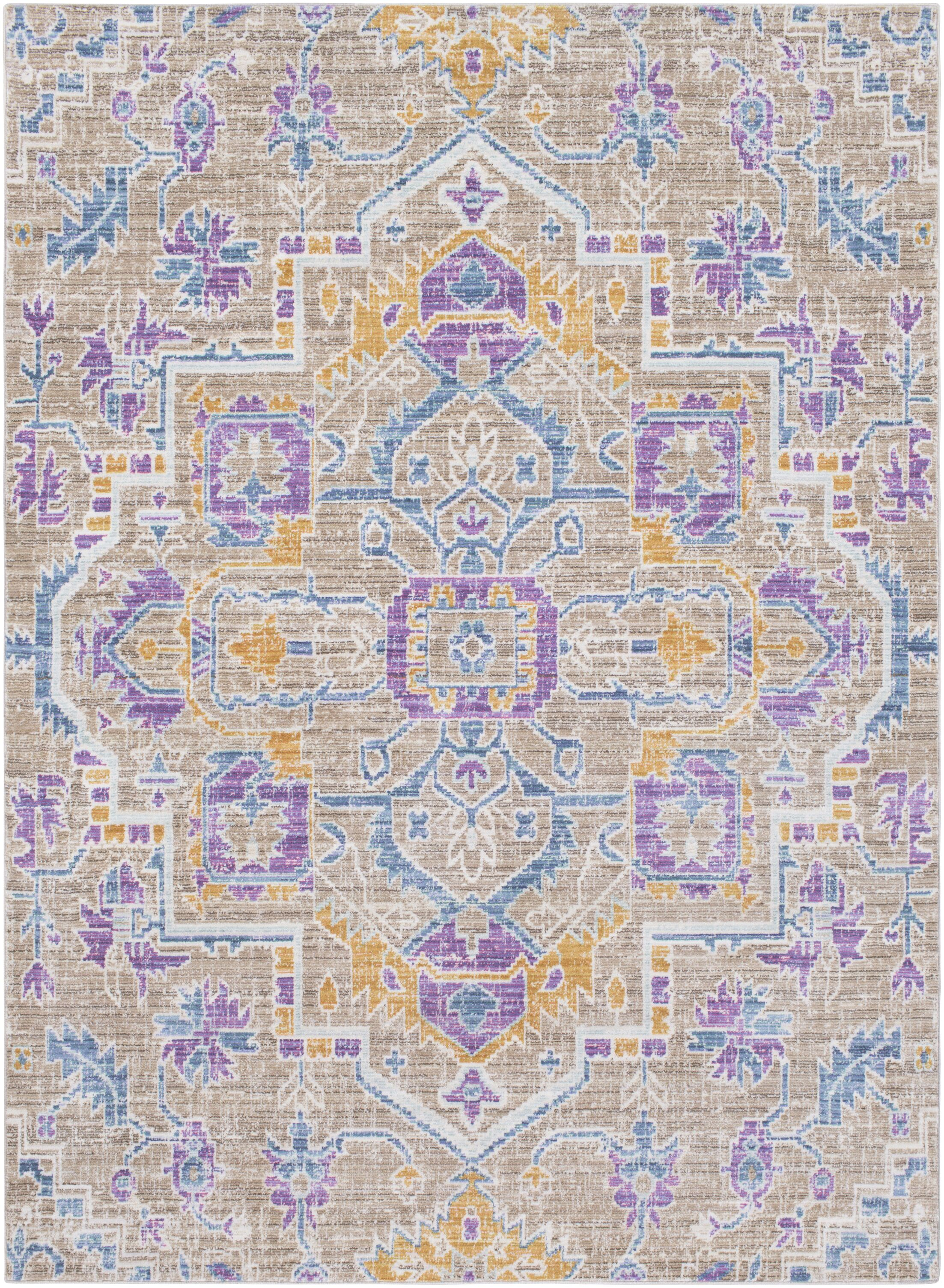 Fields Blue / Purple Area Rug Rug Size: Runner 2'11